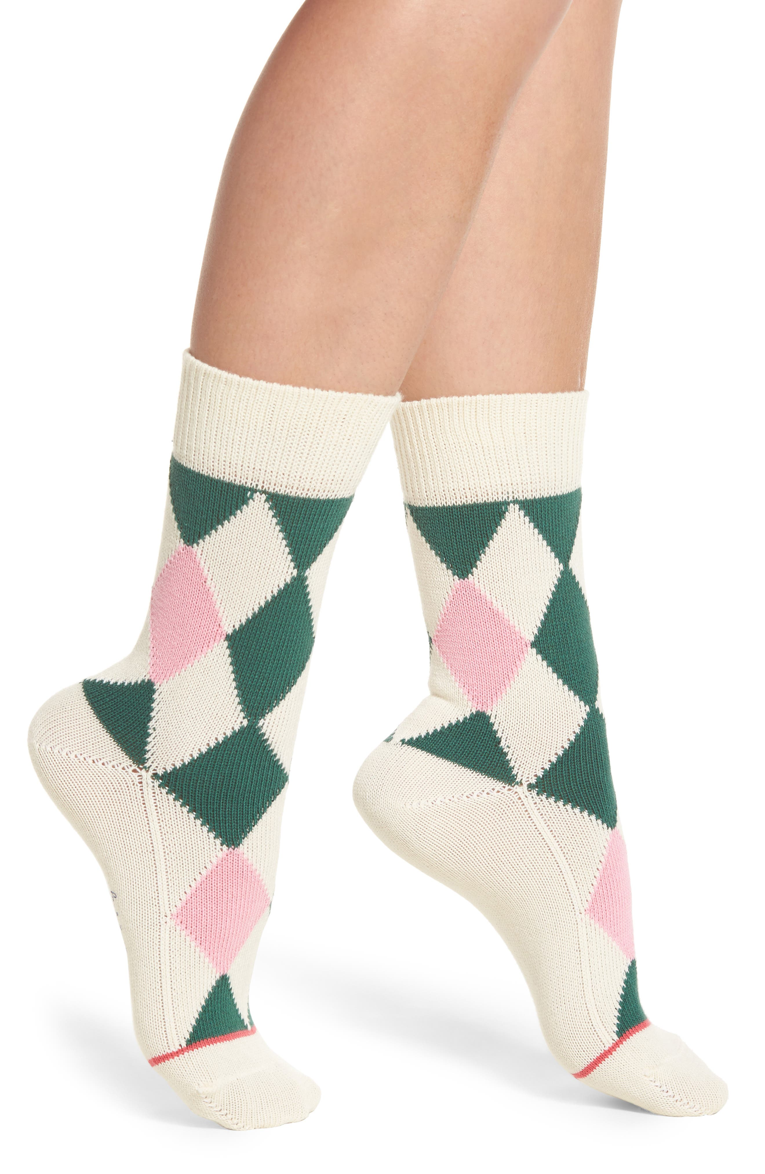 Paul Smith Finella Argyle Crew Socks