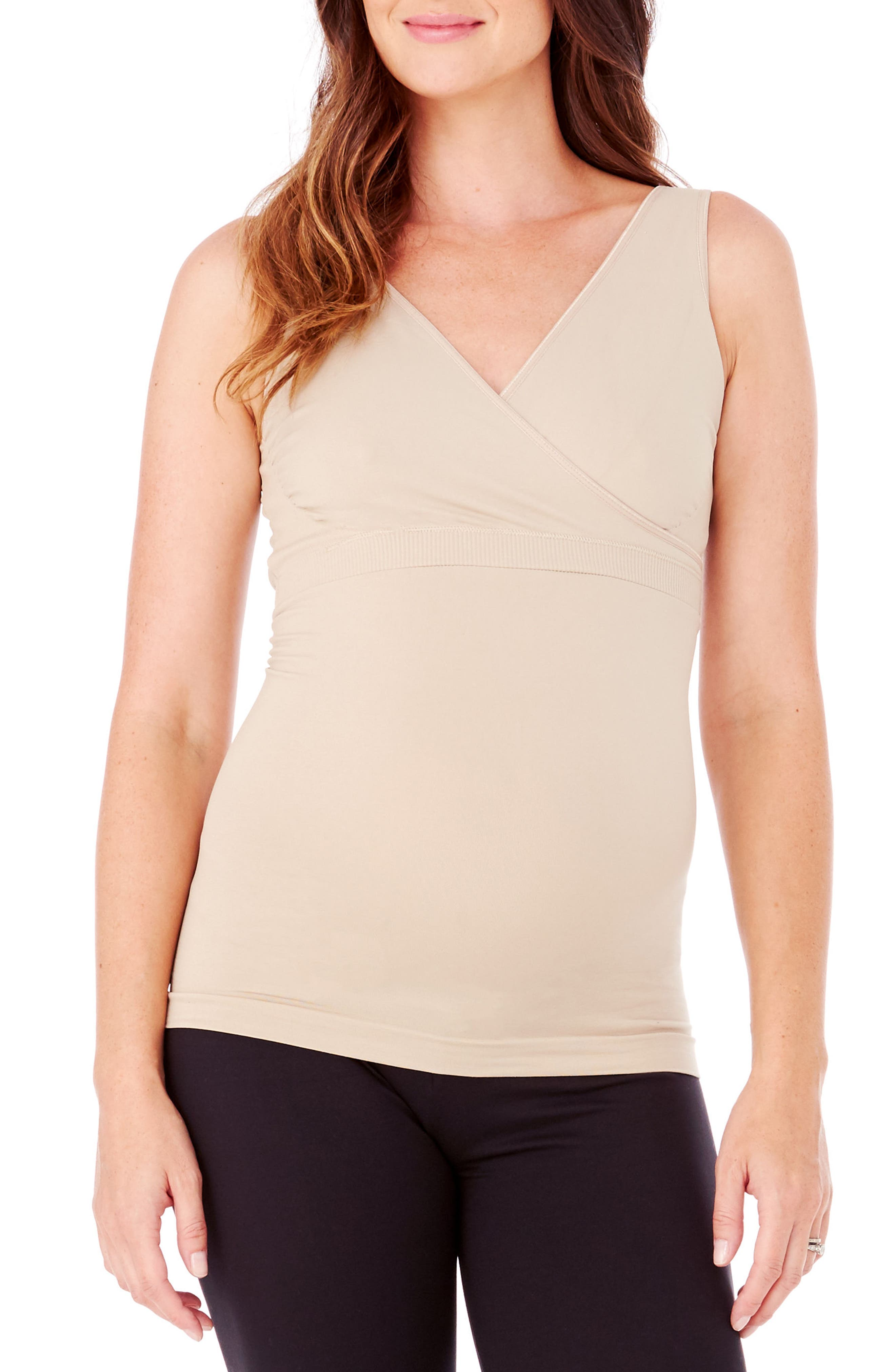 Alternate Image 1 Selected - Ingrid & Isabel® Crossover Maternity/Nursing Tank