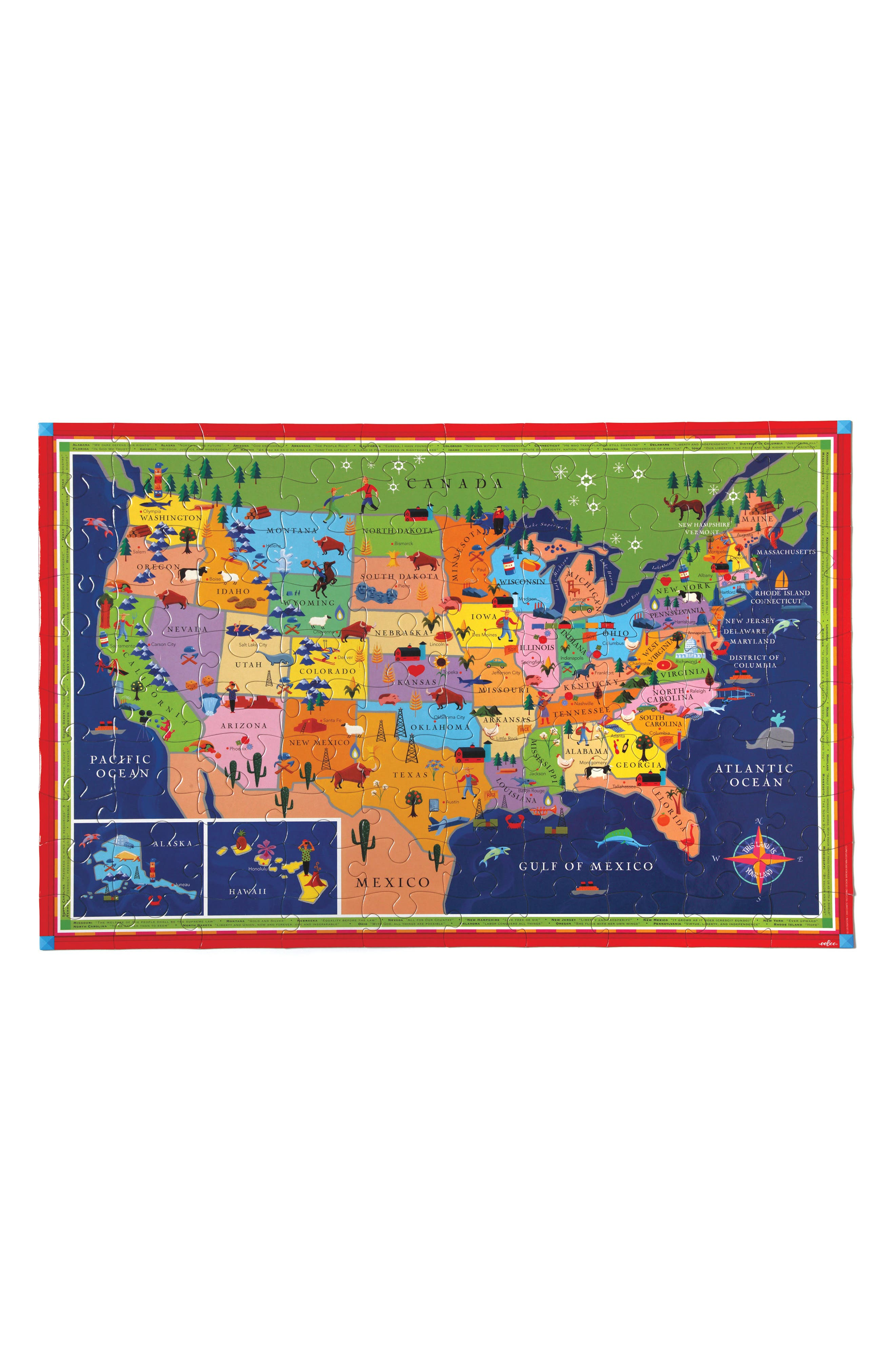 Alternate Image 3  - eeBoo USA Jigsaw Puzzle