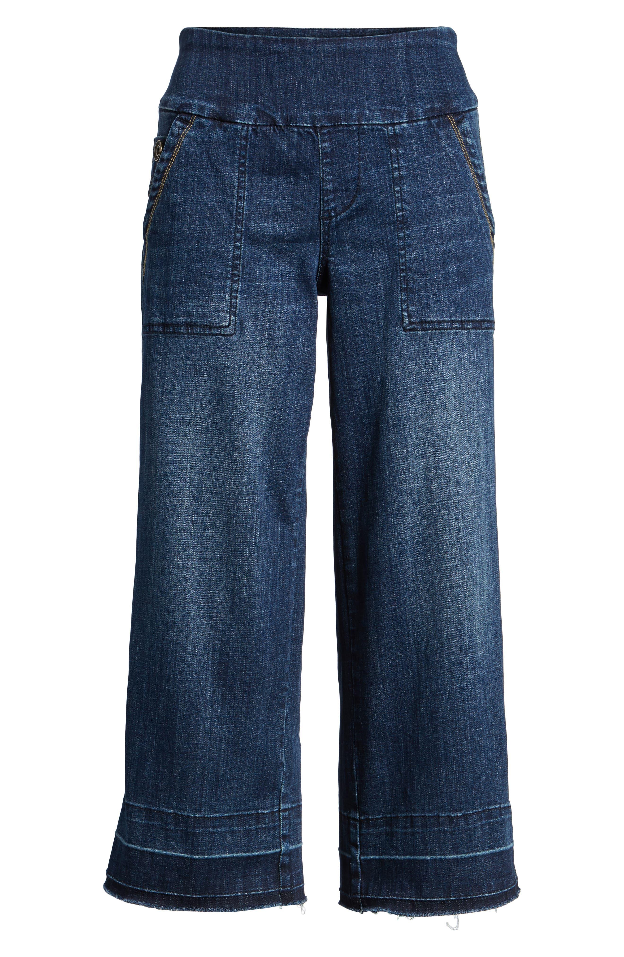 Alternate Image 6  - Jag Jeans Snyder Pull-On Wide Leg Jeans (Thorne Blue)