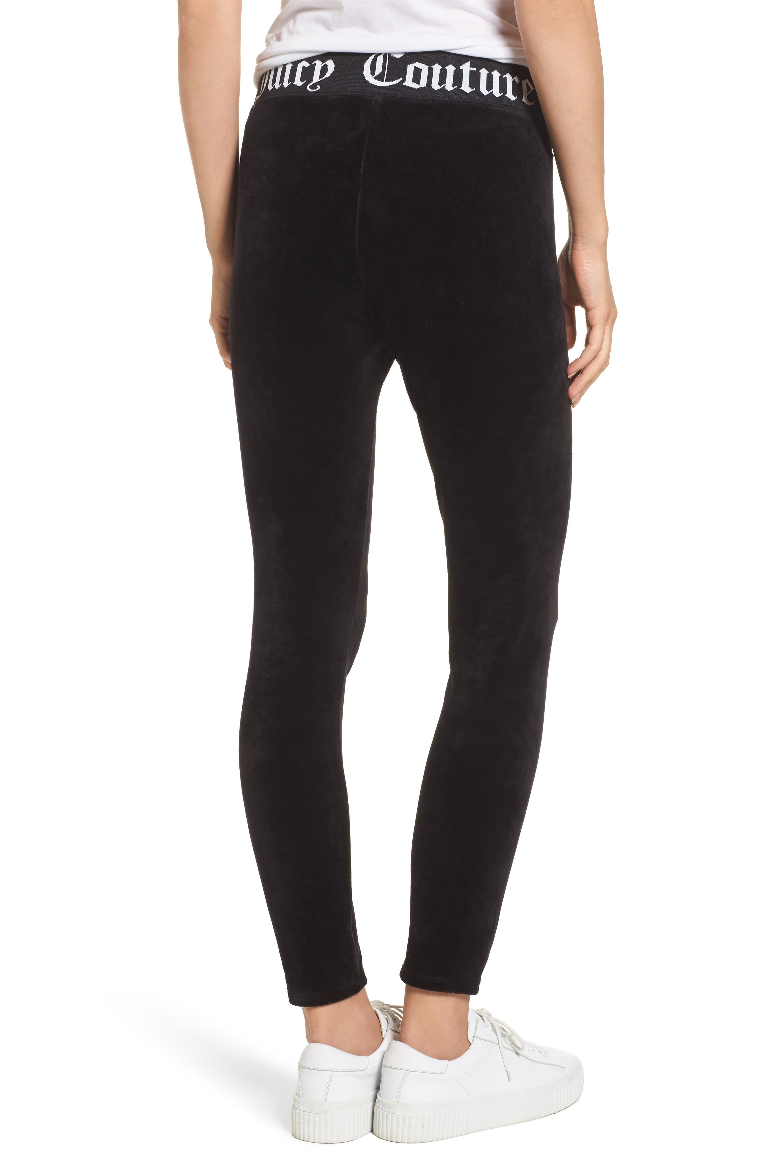 Alternate Image 2  - Juicy Couture Stretch Velour Leggings