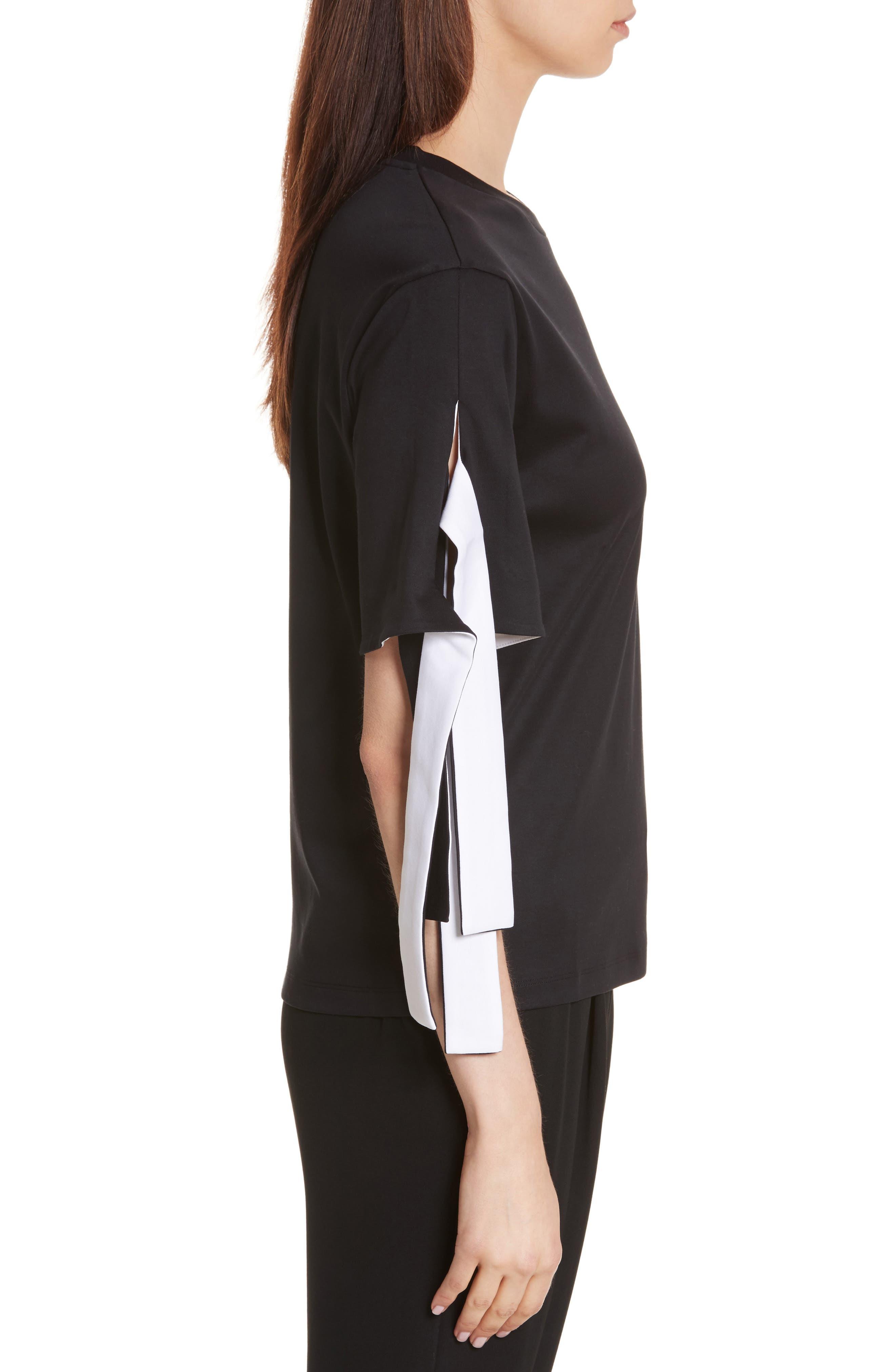 Alternate Image 3  - KENZO Tie Sleeve Cotton Tee
