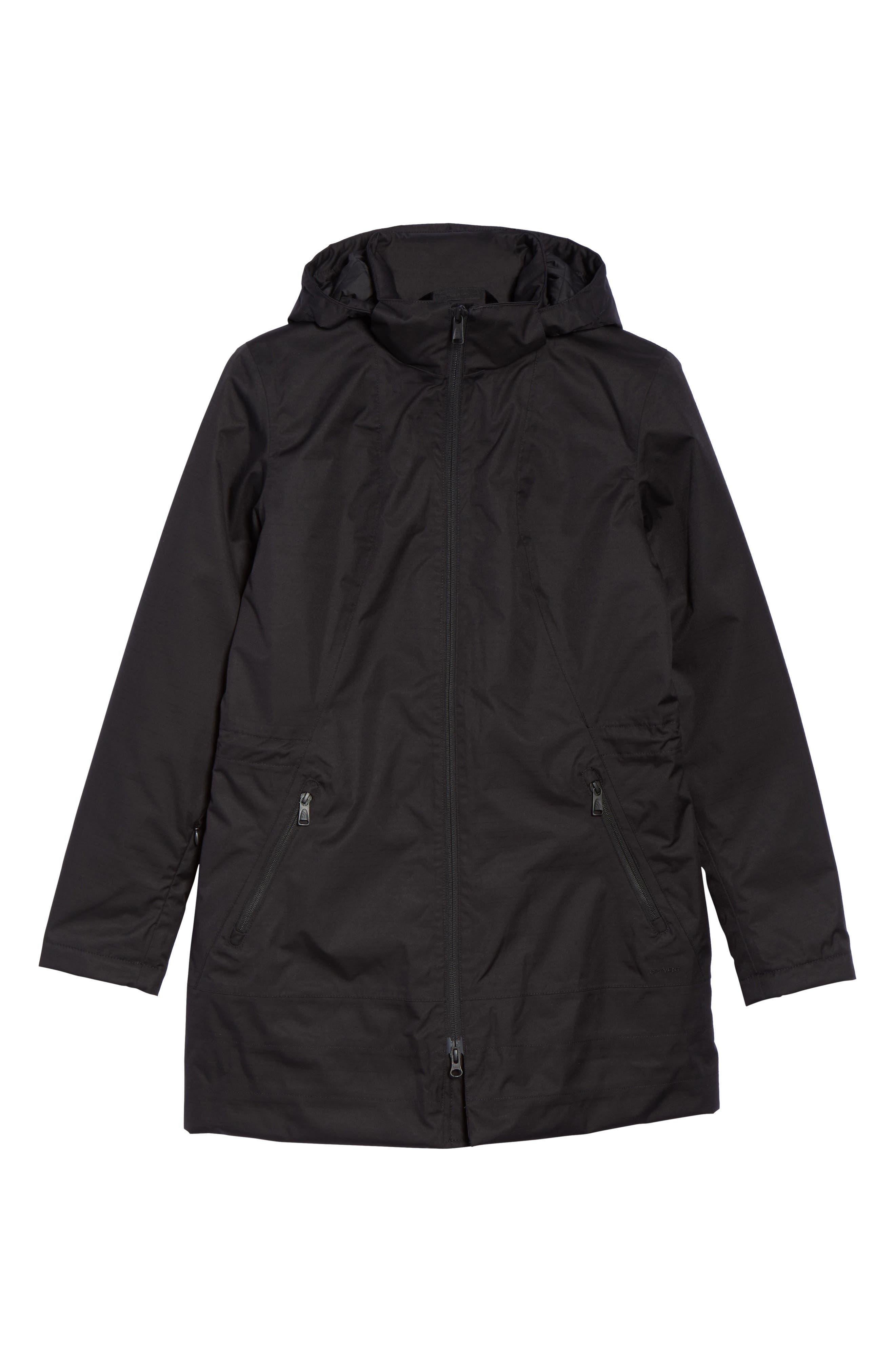 'Ancha' Hooded Waterproof Parka,                         Main,                         color, Tnf Black