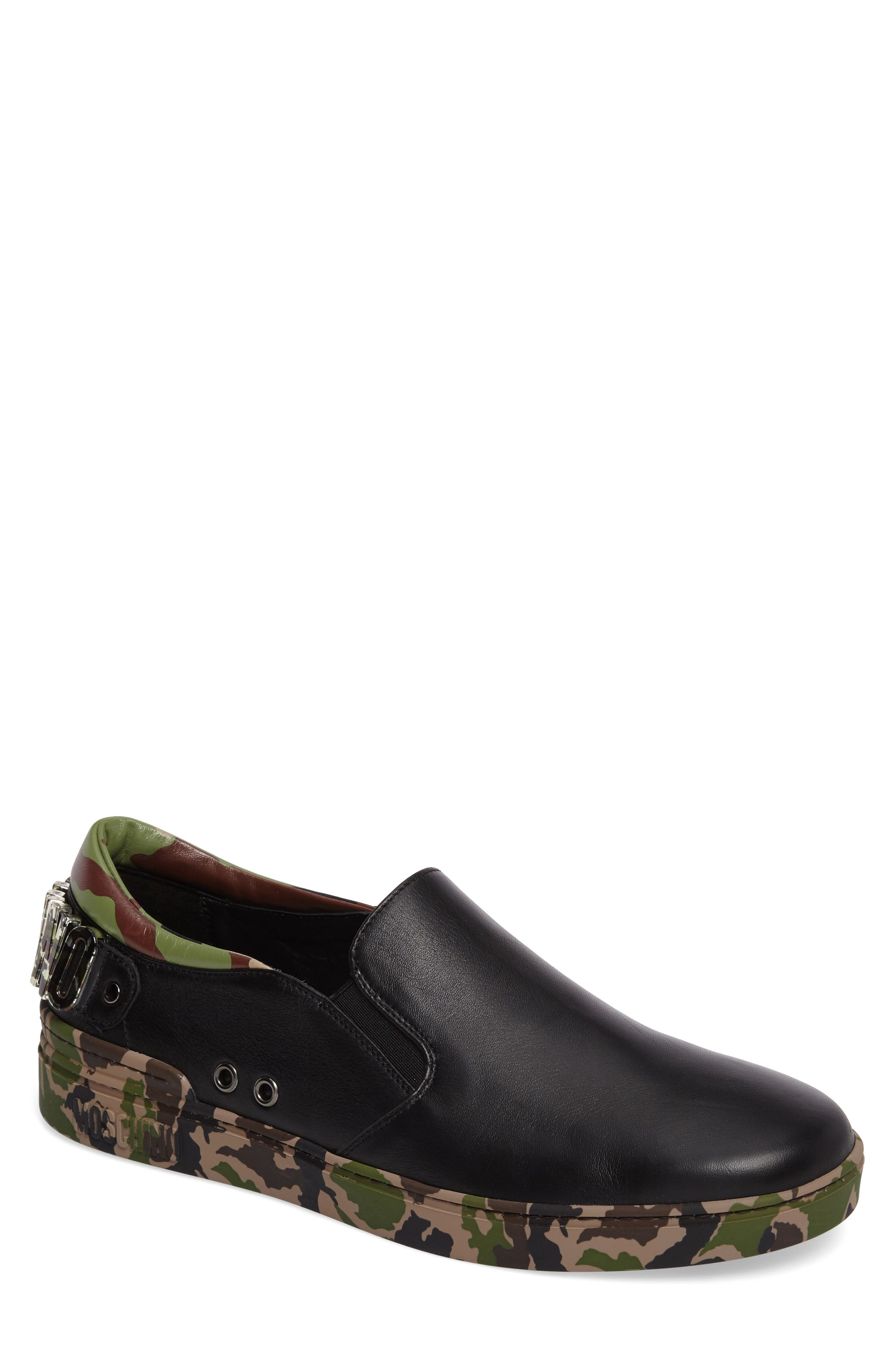 Moschino Camo Slip-On Sneaker (Men)