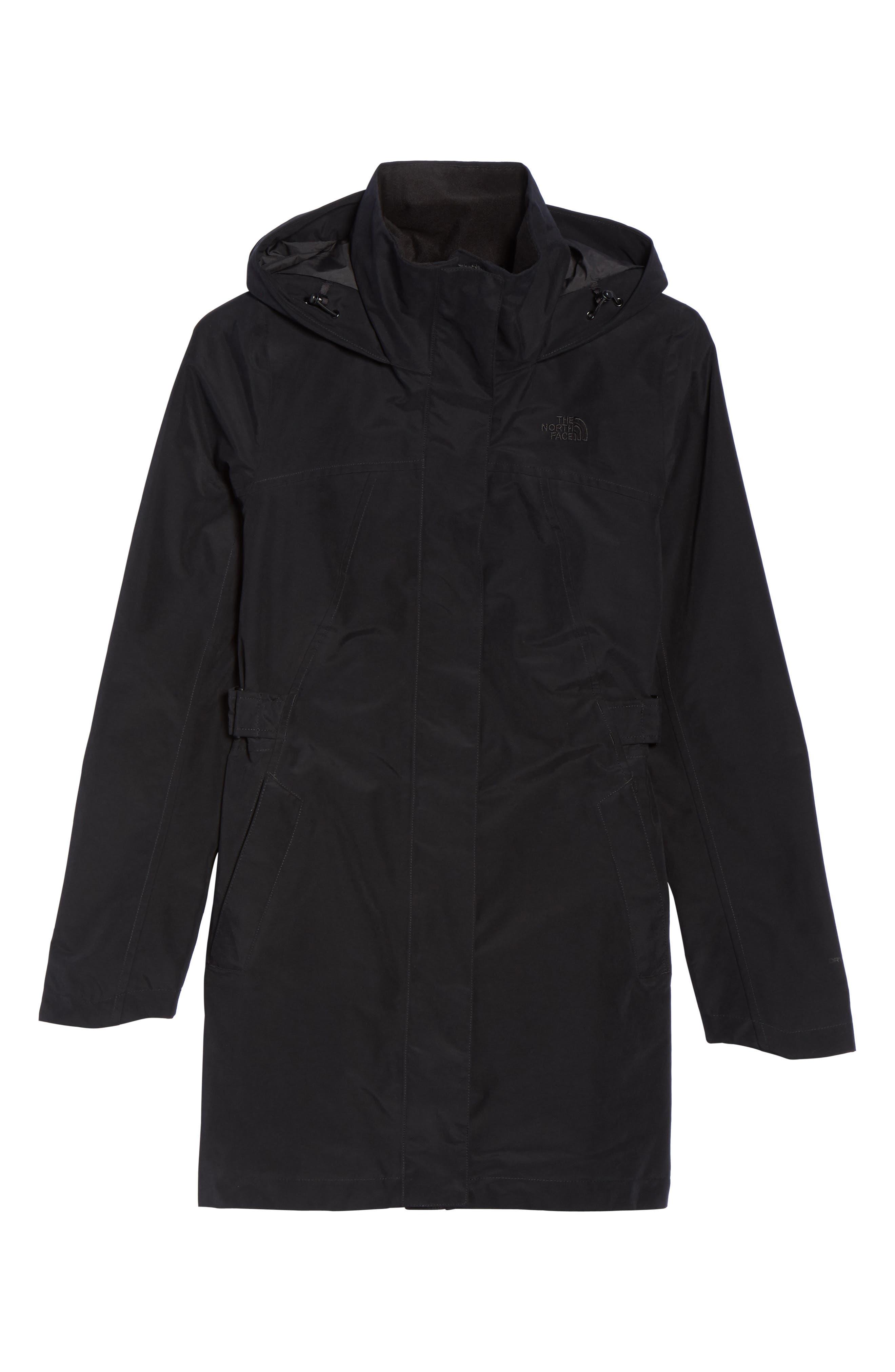 Laney II Trench Raincoat,                             Alternate thumbnail 7, color,                             Tnf Black