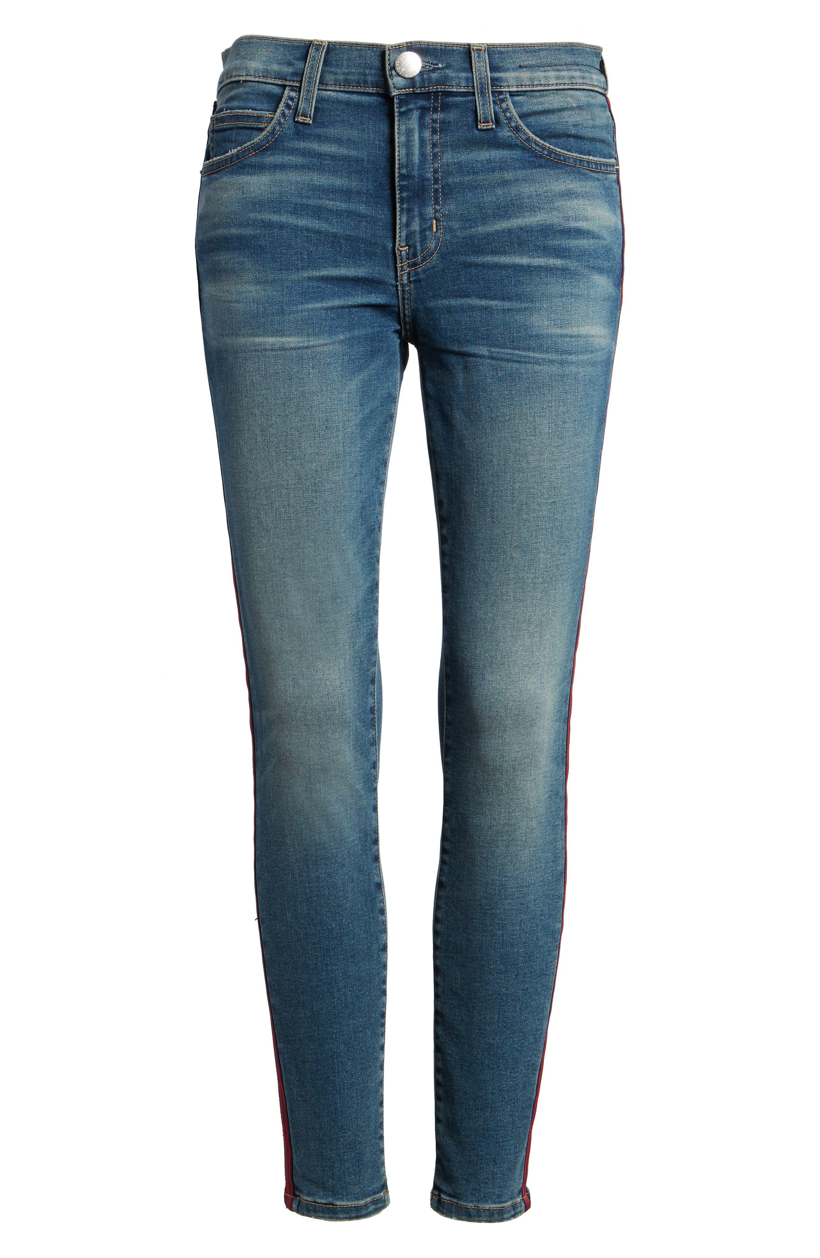 Alternate Image 6  - Current/Elliott The High Waist Stiletto Ankle Skinny Jeans (Powell/Applied Stripe)