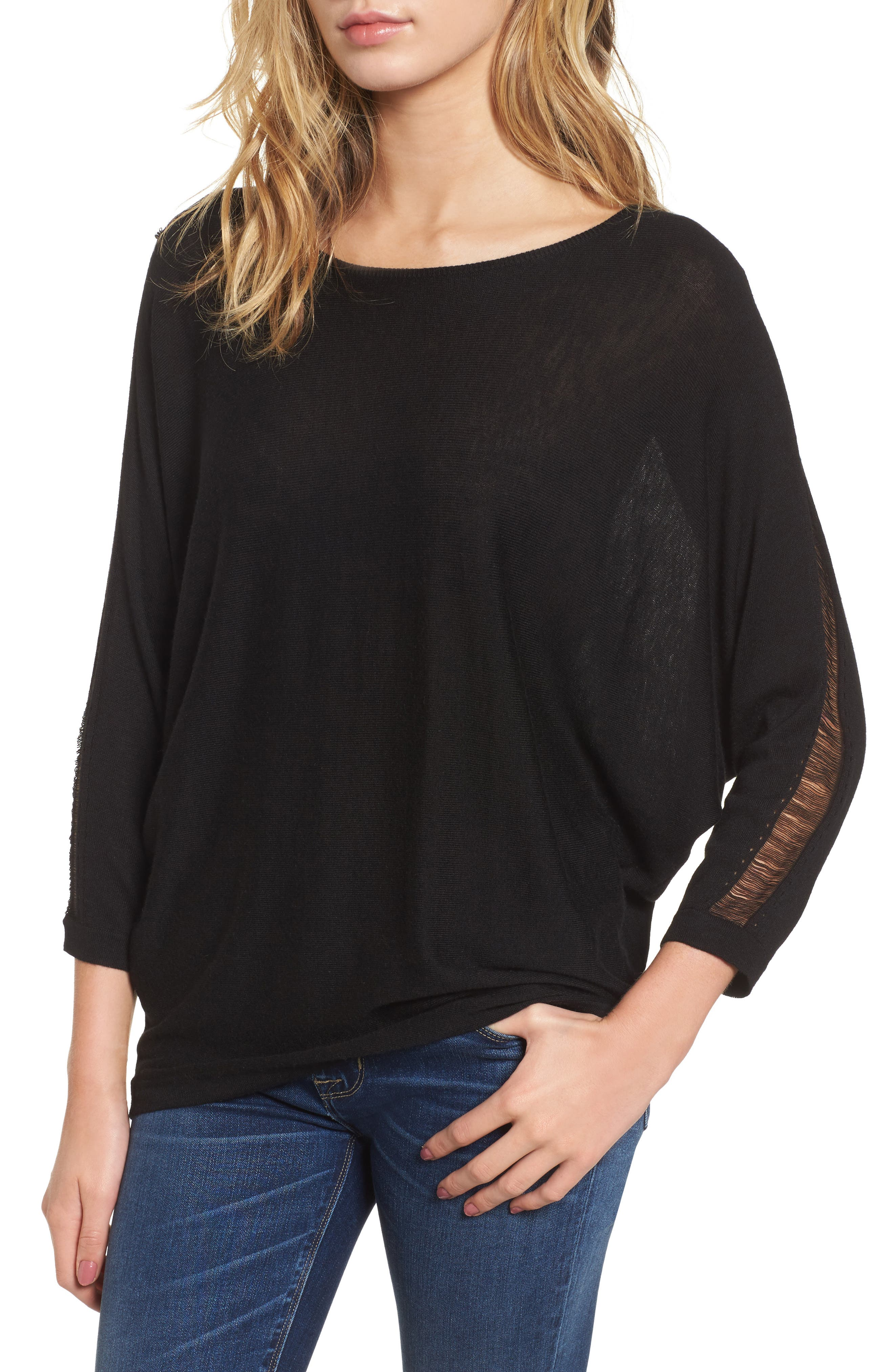 Whitlock Sweater,                         Main,                         color, Black