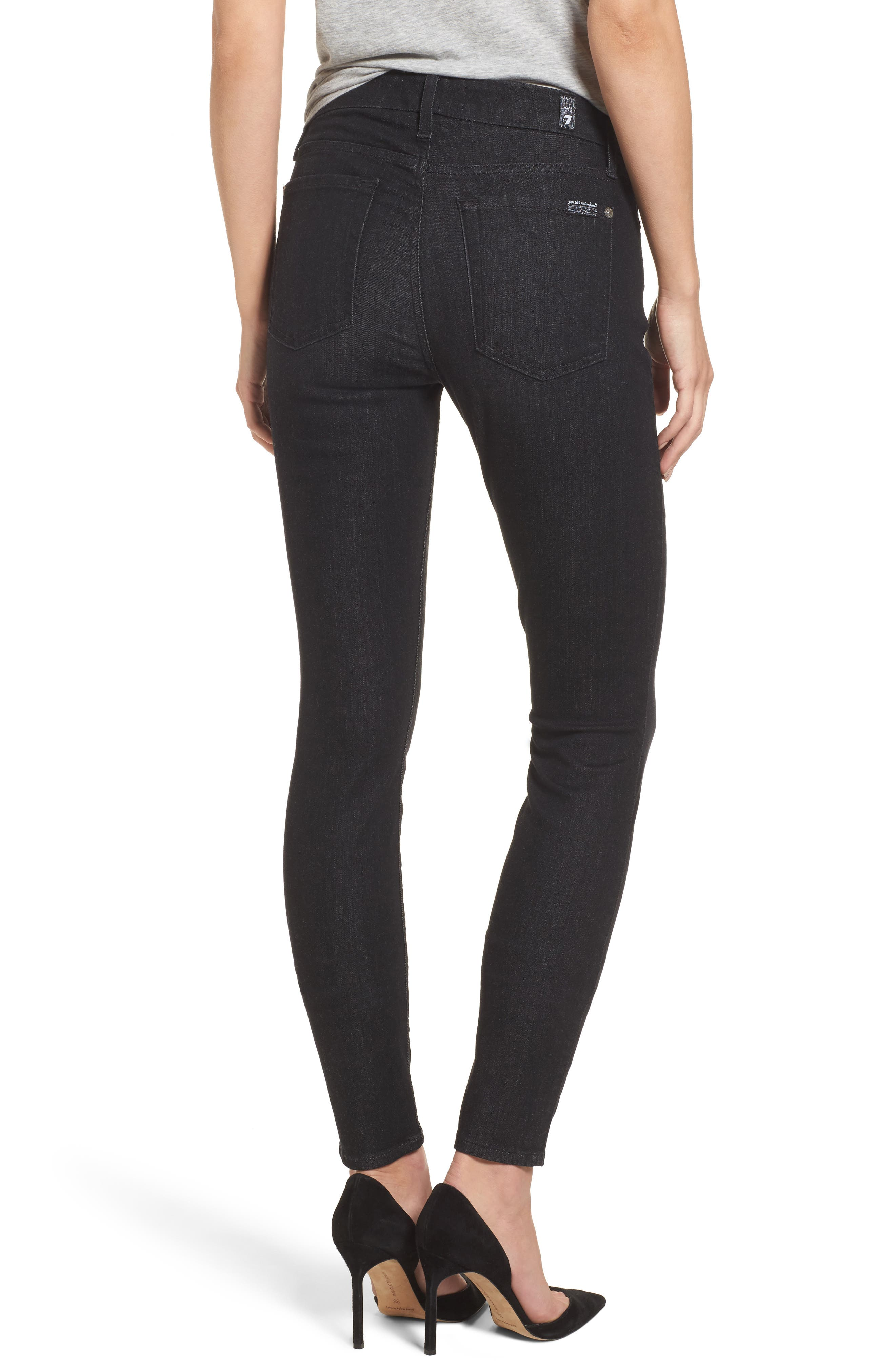 b(air) - The Skinny High Waist Jeans,                             Alternate thumbnail 2, color,                             Bair Noir