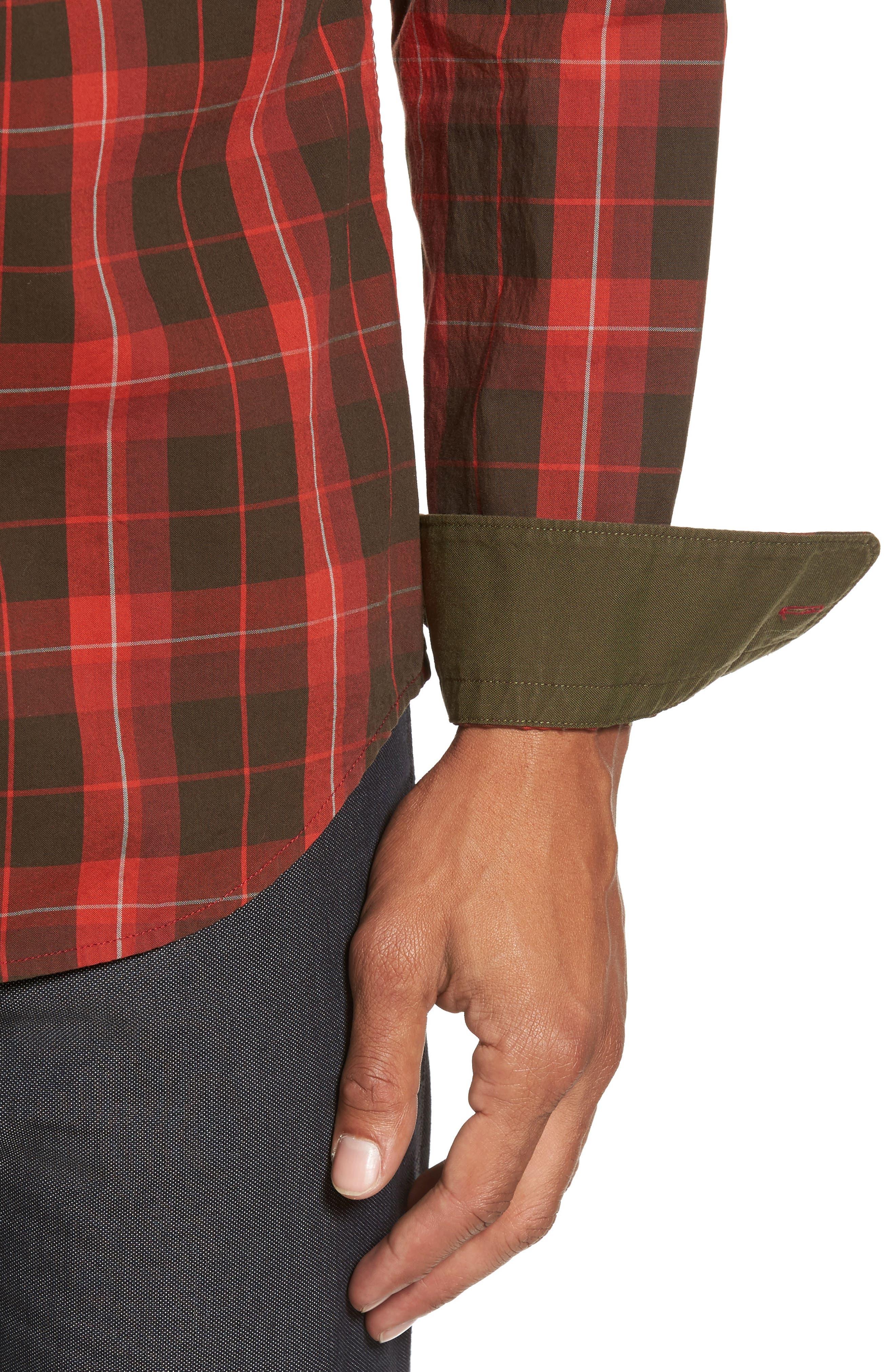 Alternate Image 4  - BOSS Lukas Regular Fit Windowpane Plaid Sport Shirt