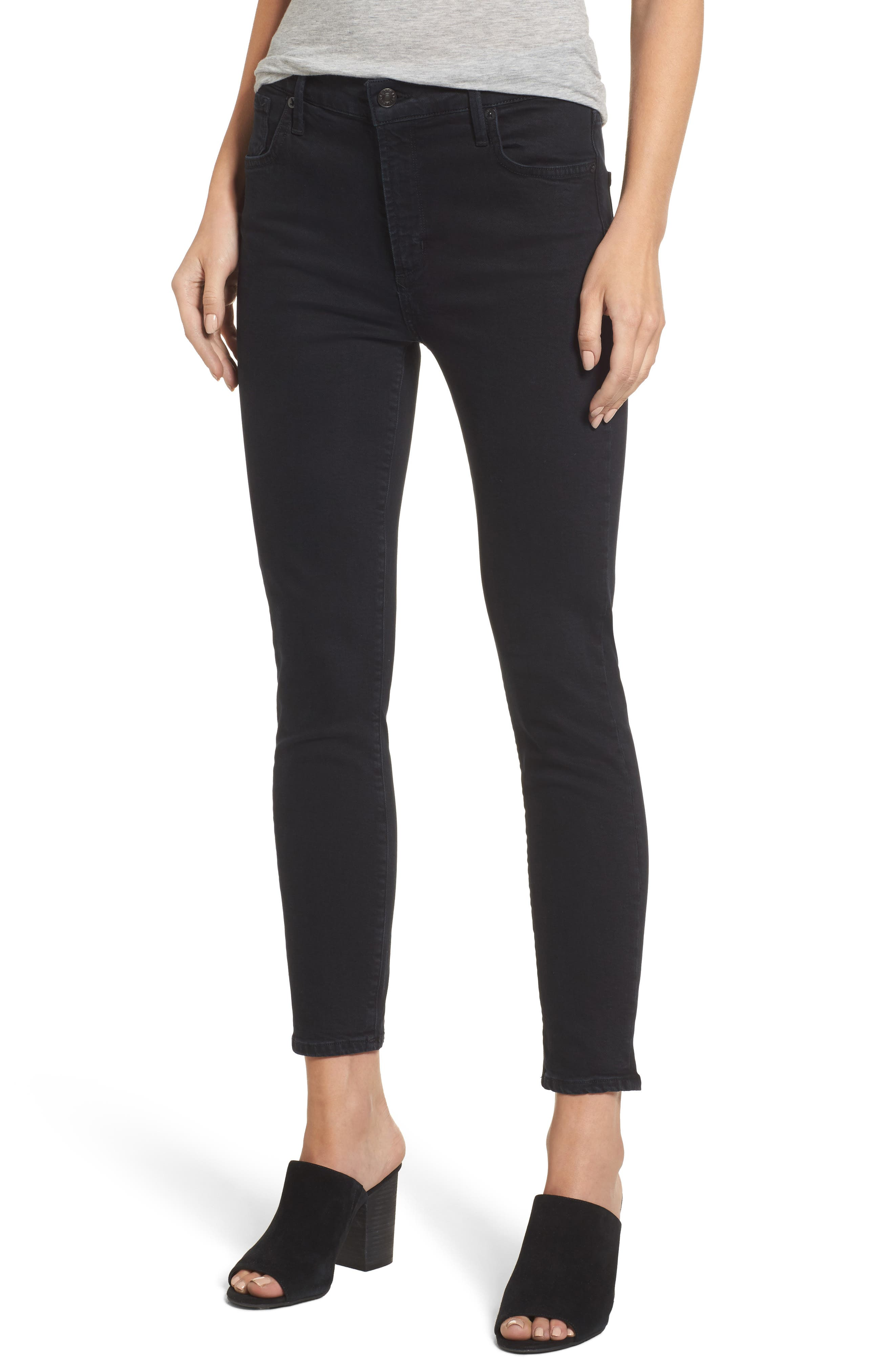 Alternate Image 1 Selected - AGOLDE Sophie Crop High Rise Skinny Jeans (Princeton)