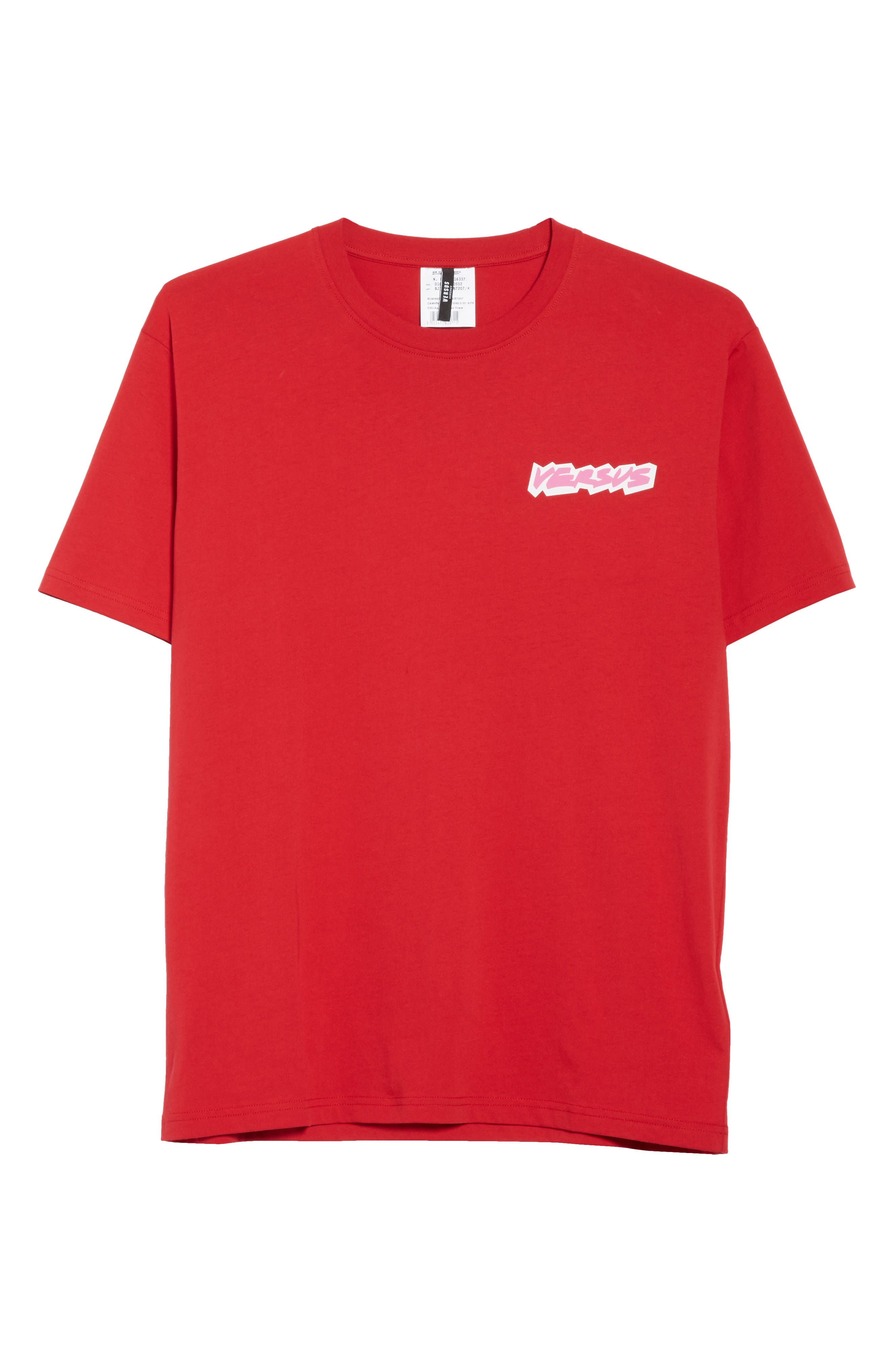 VERSUS by Versace Logo Graphic T-Shirt,                             Alternate thumbnail 6, color,                             Red
