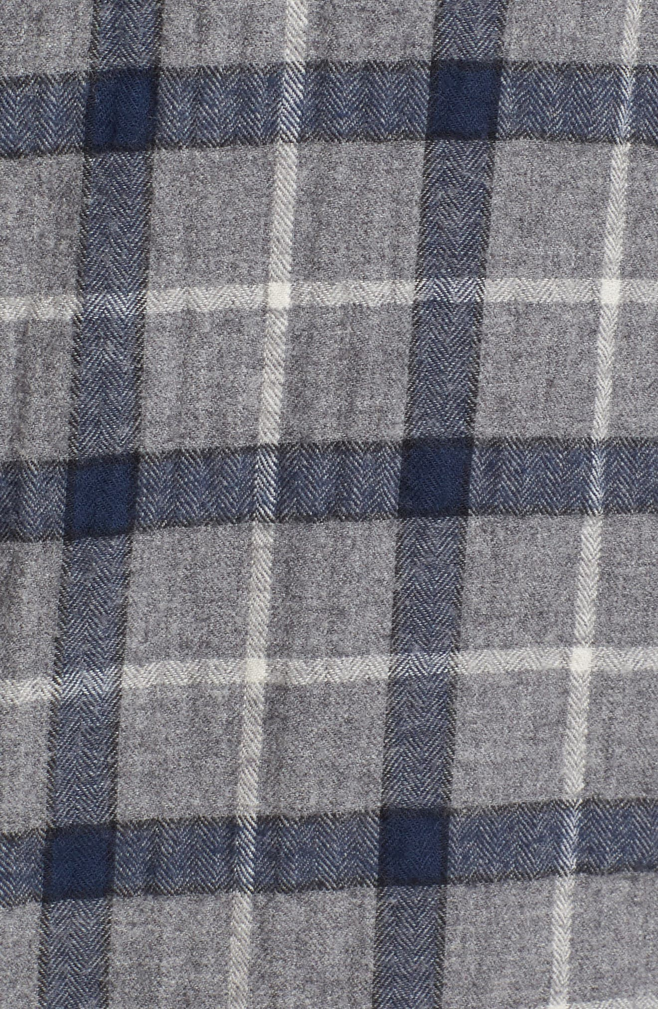 Murphy Slim Fit Plaid Sport Shirt,                             Alternate thumbnail 5, color,                             Grey/ Navy
