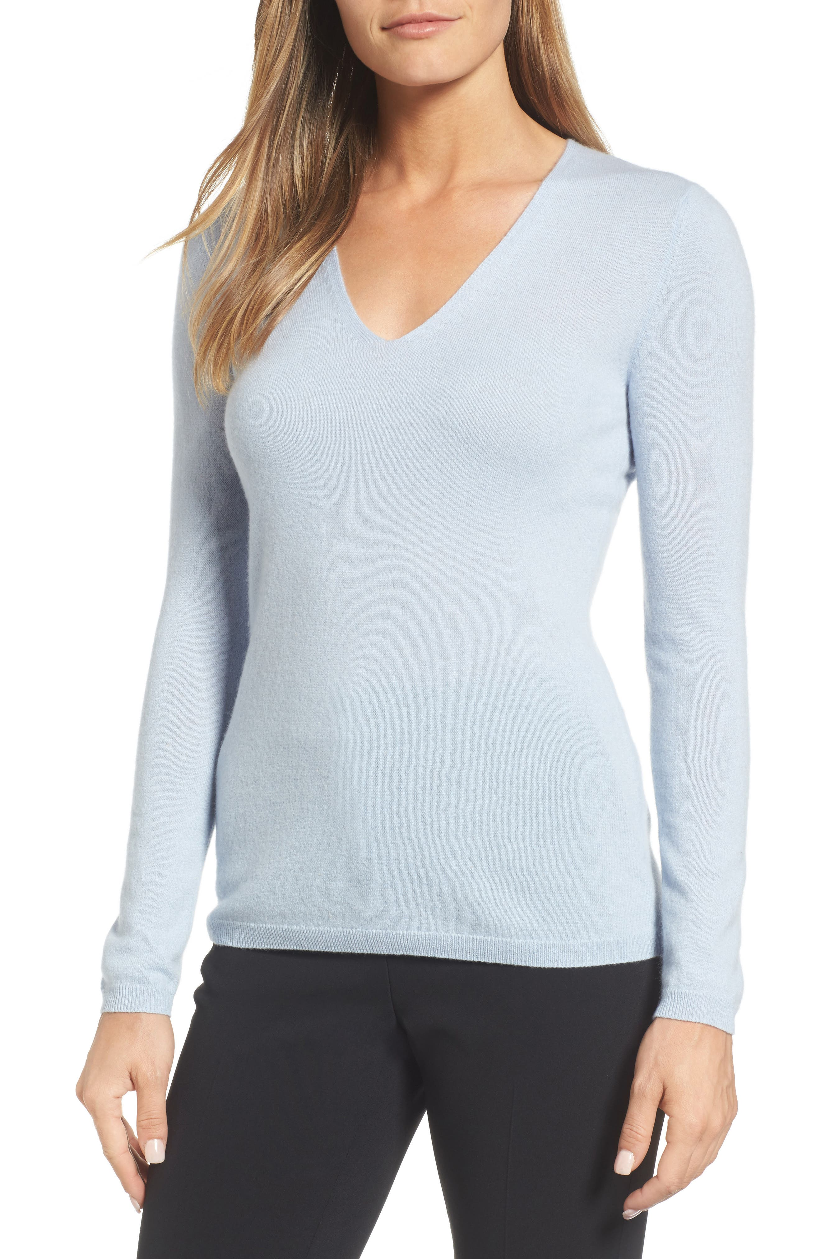 Main Image - Nordstrom Signature Cashmere V-Neck Sweater