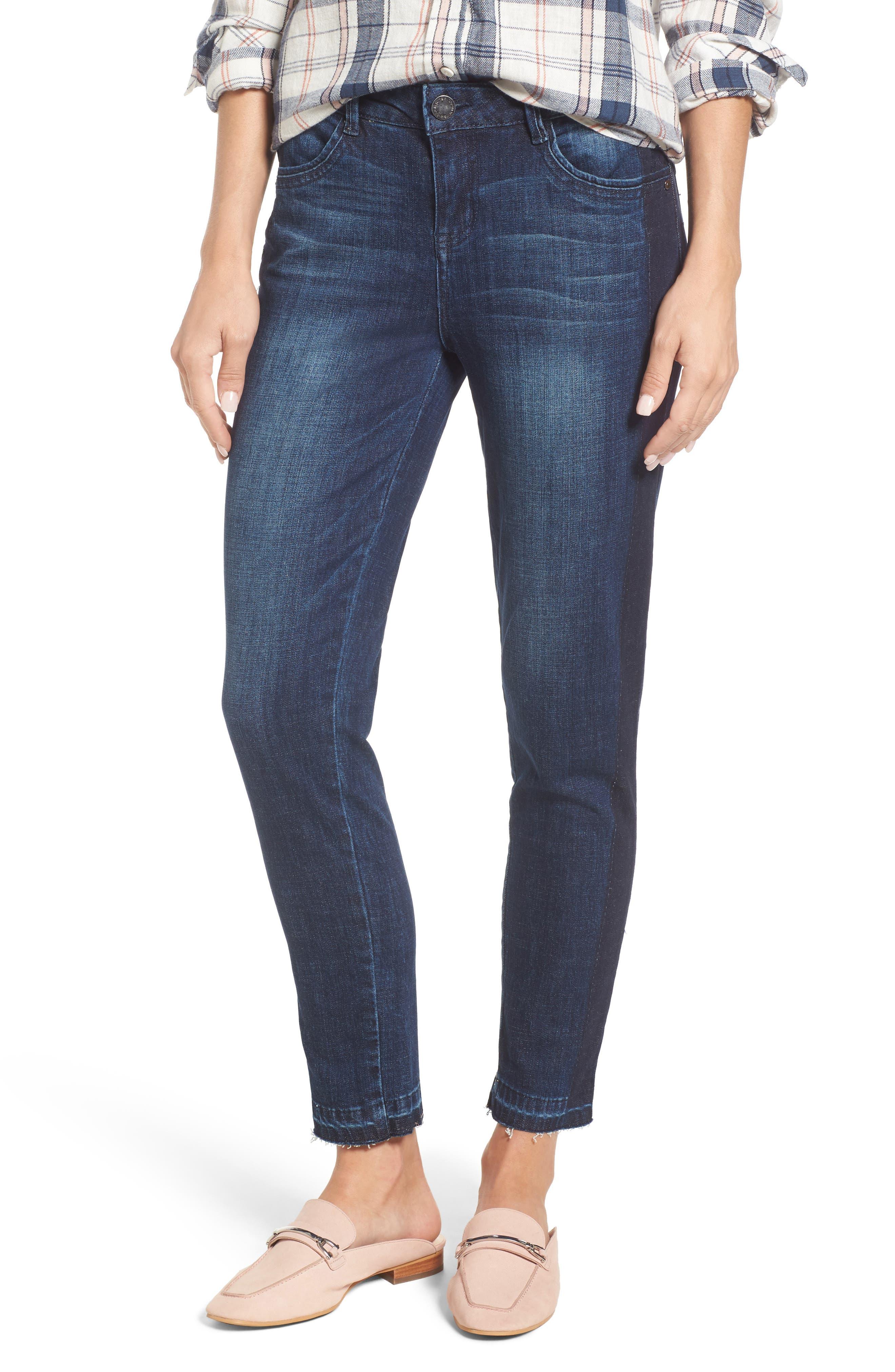 Main Image - Wit & Wisdom Tuxedo Stripe Skinny Jeans (Nordstrom Exclusive)
