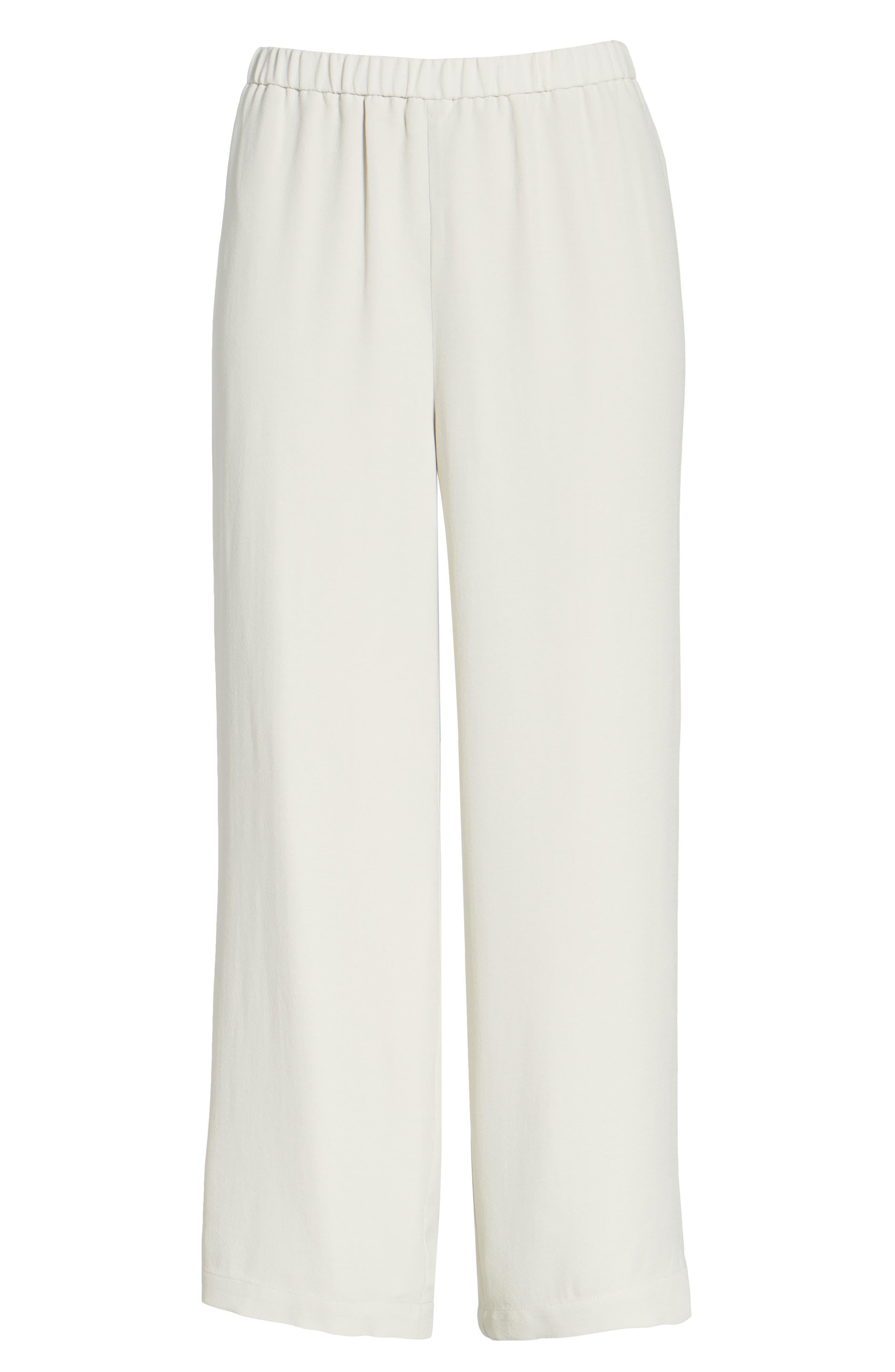 Alternate Image 8  - Eileen Fisher Silk Crop Pants (Regular & Petite)