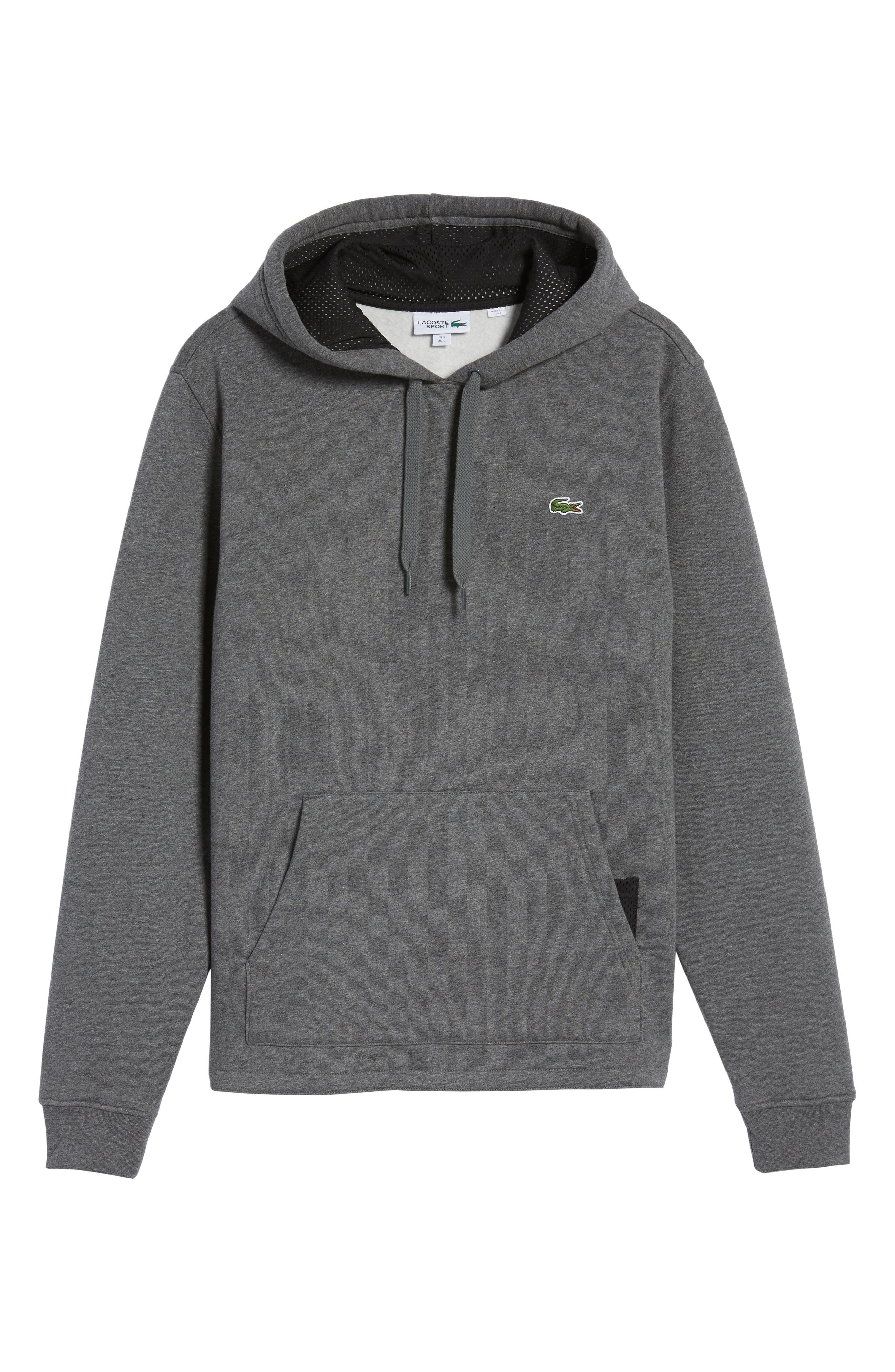 Main Image - Lacoste Brushed Fleece Logo Hoodie