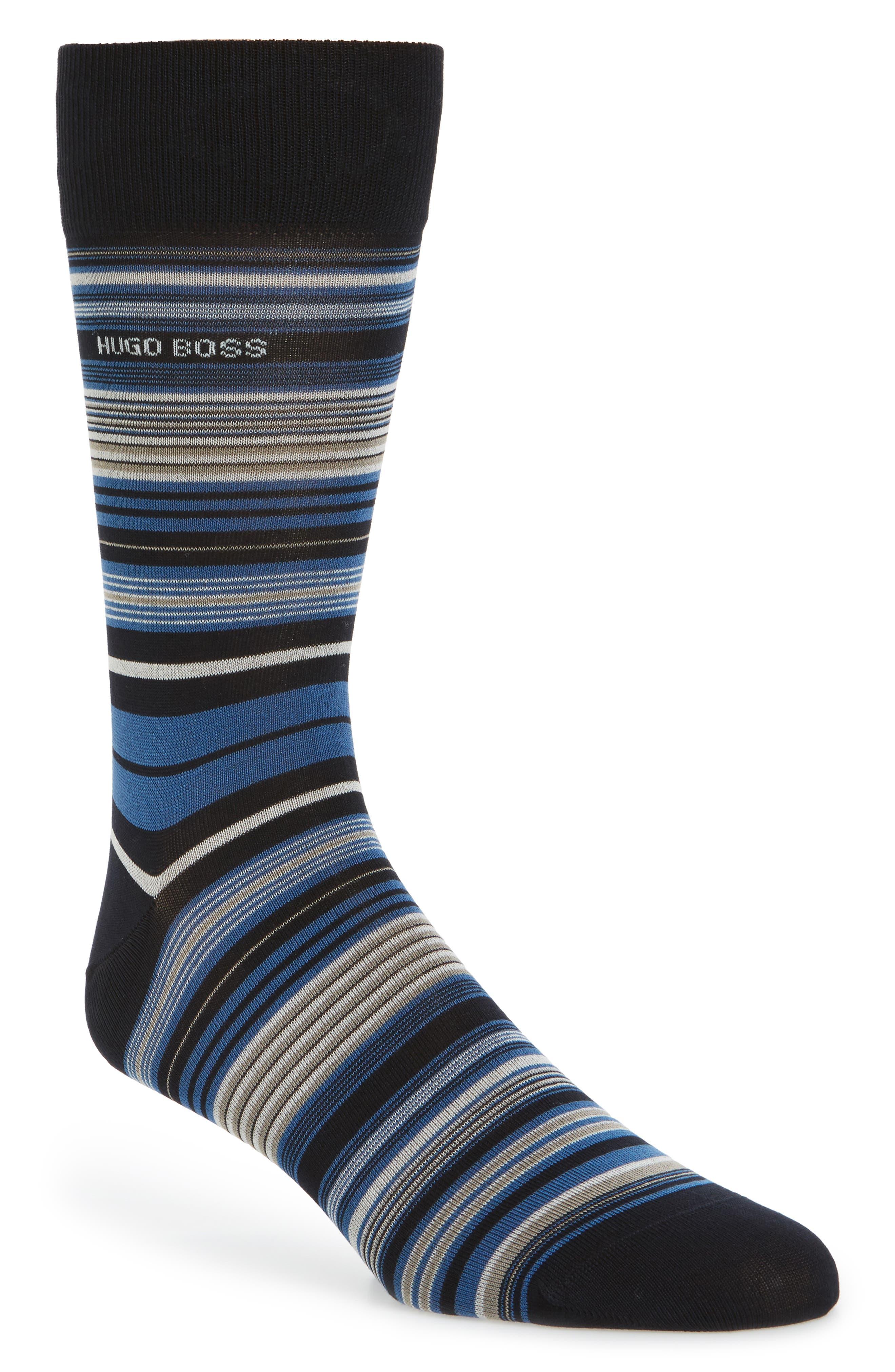 Multistripe Socks,                         Main,                         color, Blue