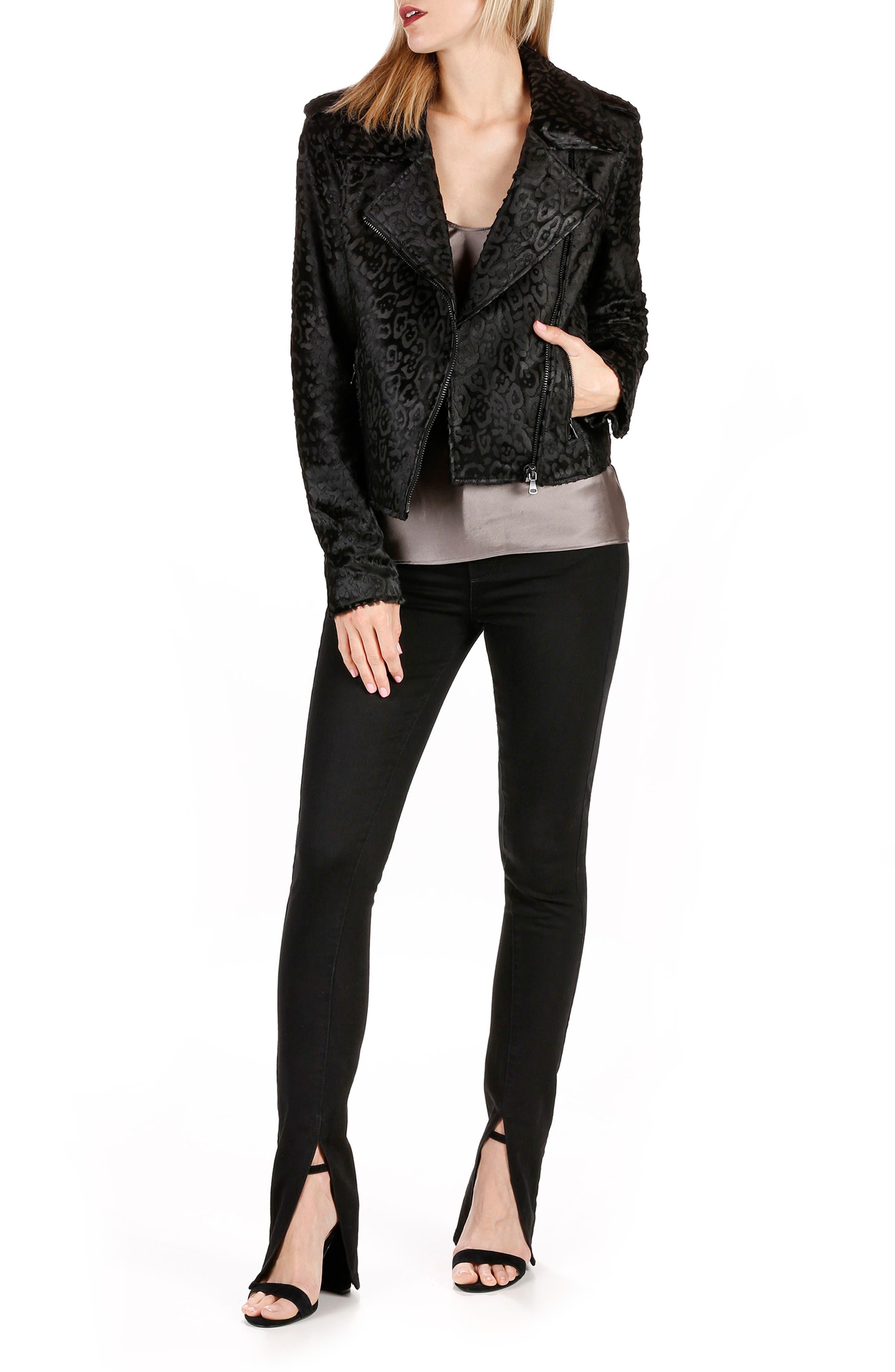 Alternate Image 4  - Rosie HW x PAIGE Constance Skinny Jeans (Onyx)
