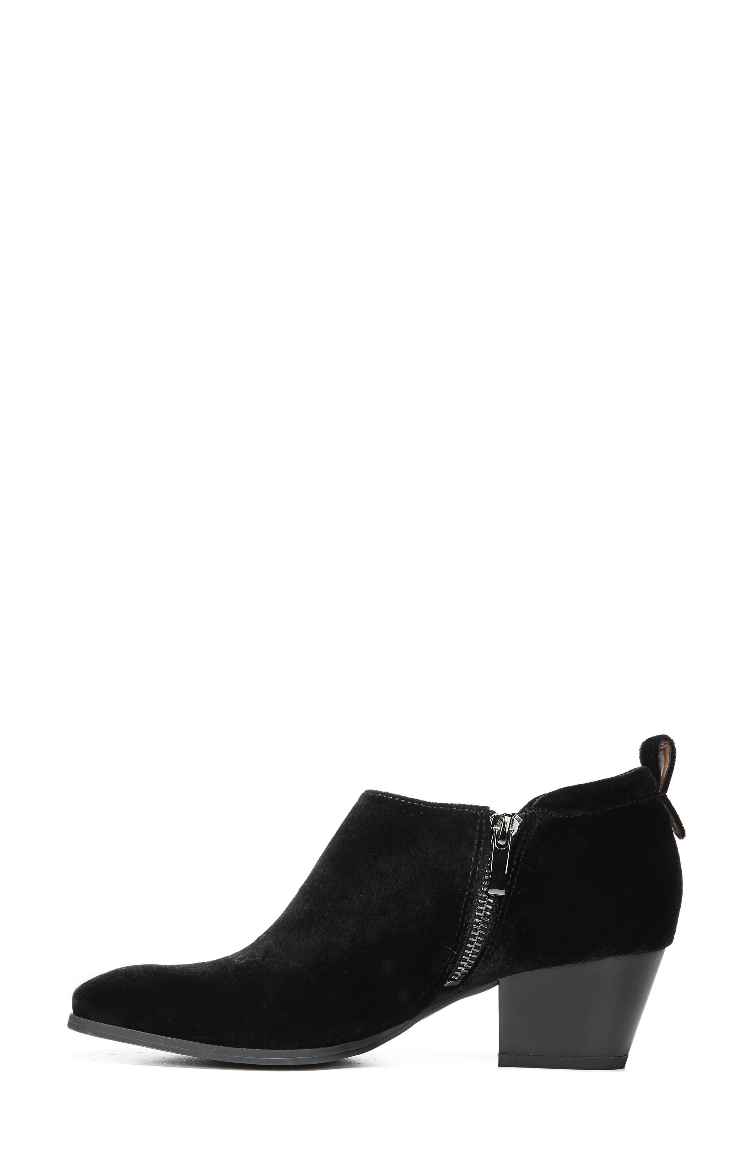'Granite' Block Heel Bootie,                             Alternate thumbnail 2, color,                             Black Velvet
