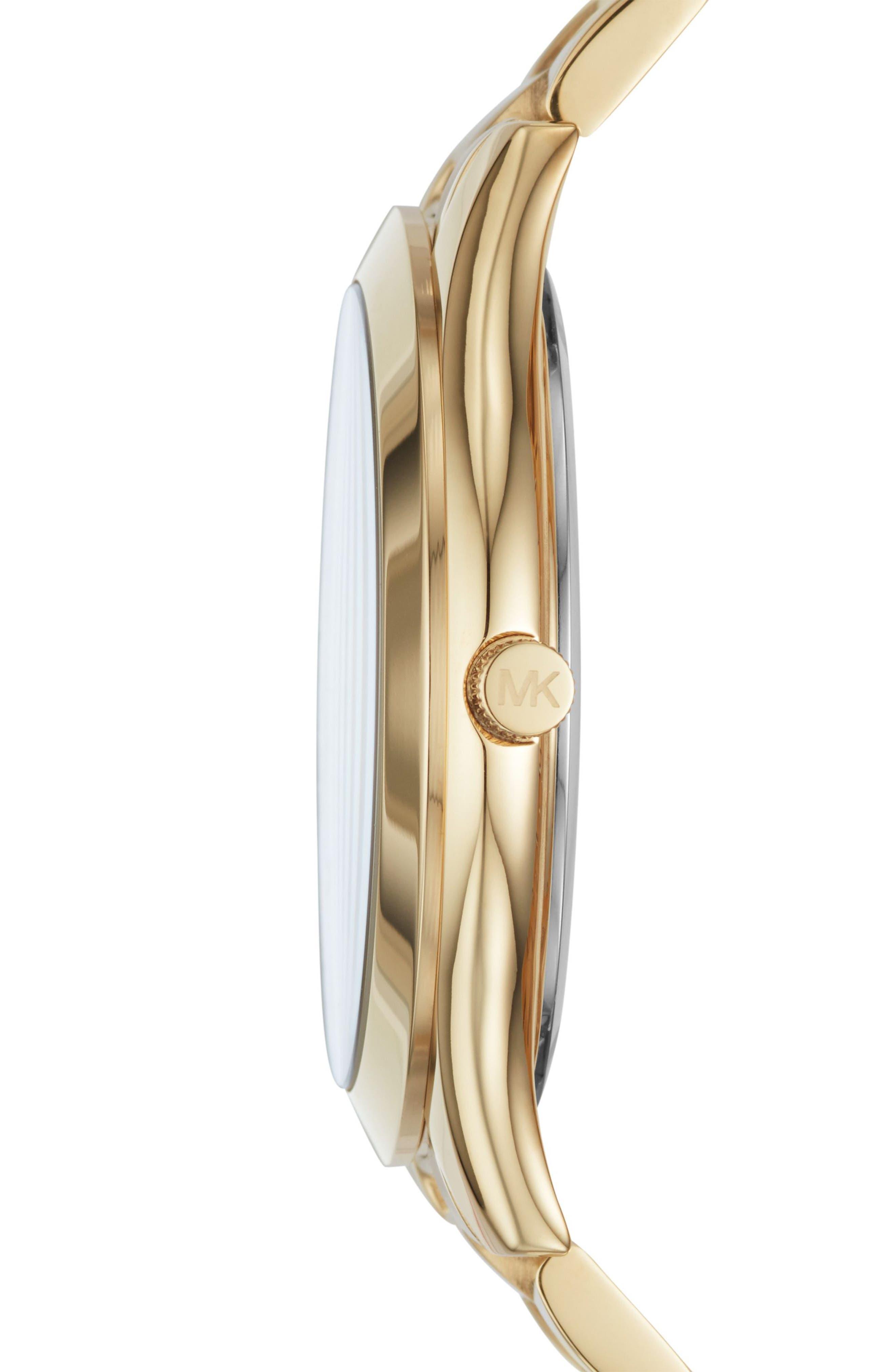 Alternate Image 2  - Michael Kors Slim Runway Bracelet Watch, 40mm