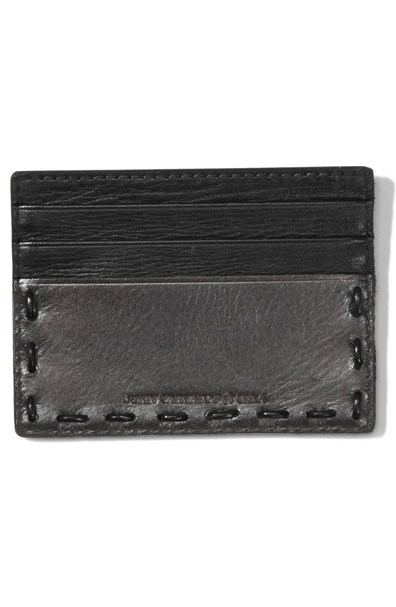 Alternate Image 2  - John Varvatos Star USA Leather Card Case