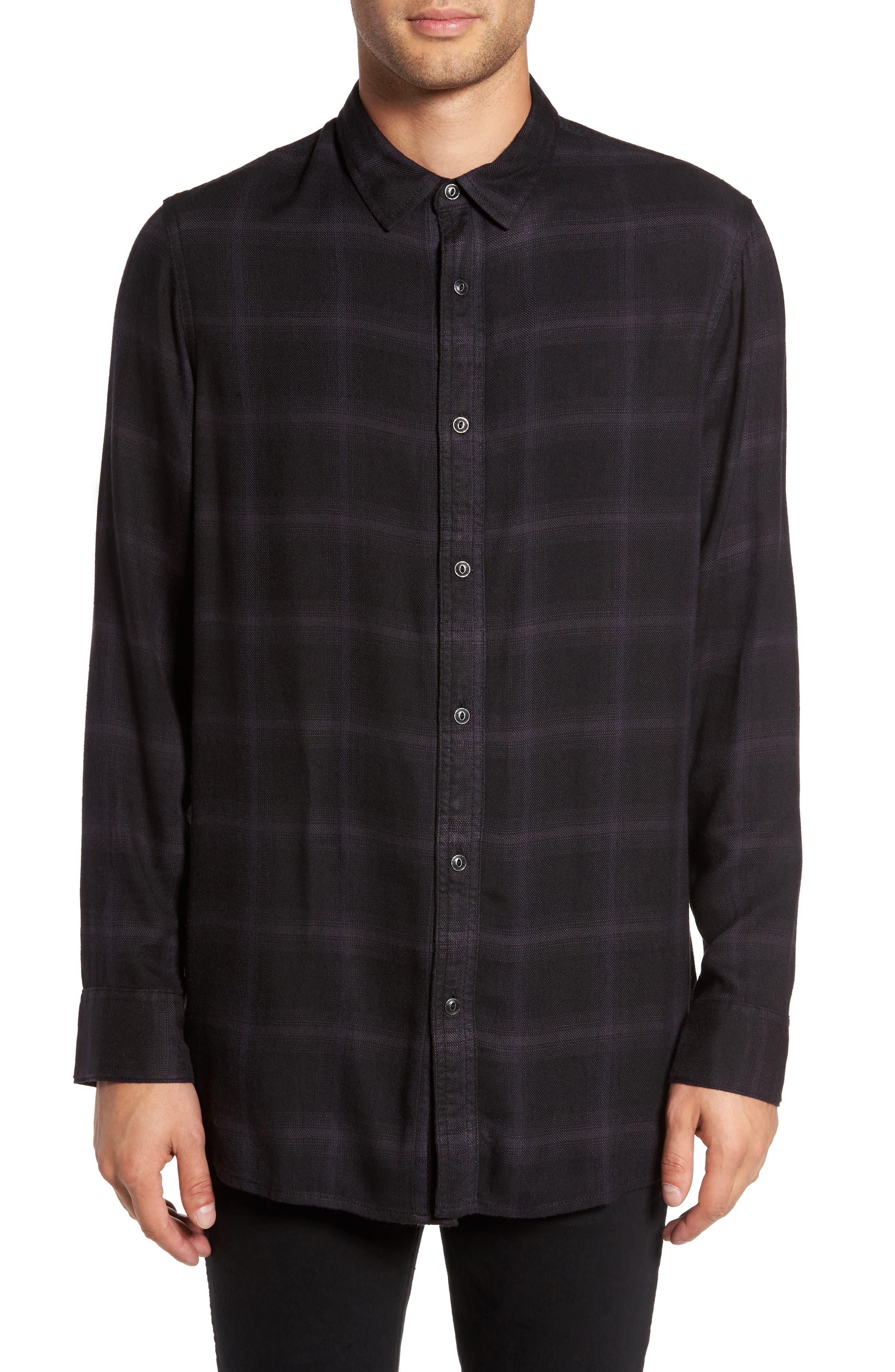 Virgil Longline Shirt,                         Main,                         color, Black Rock Static Ombre