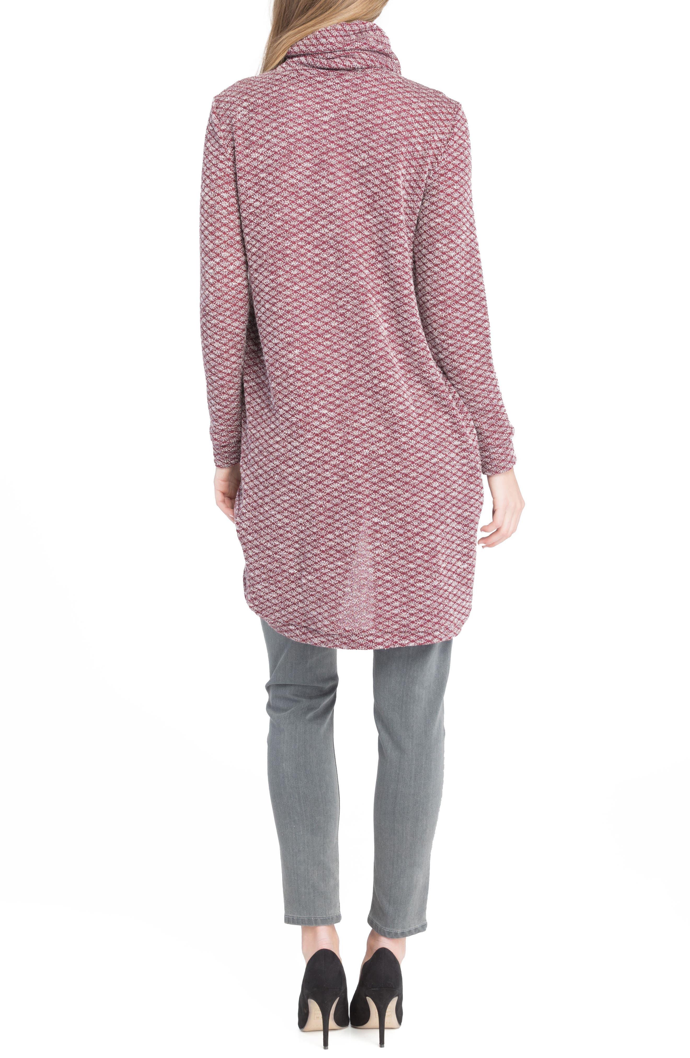 Alternate Image 3  - Lilac Clothing Nursing Tunic Sweater