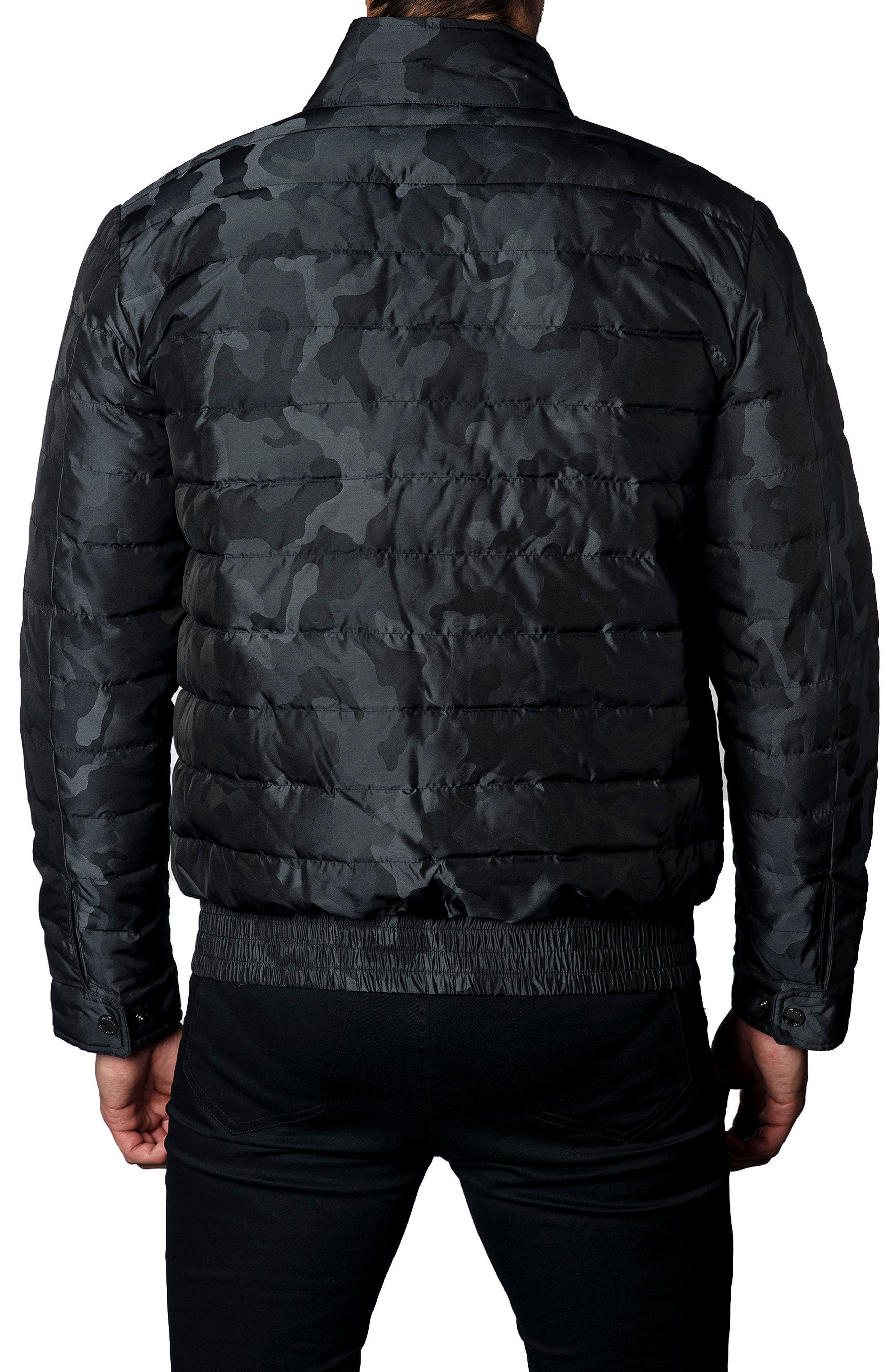 Chicago Camo Down Puffer Jacket,                             Alternate thumbnail 2, color,                             Black Camo