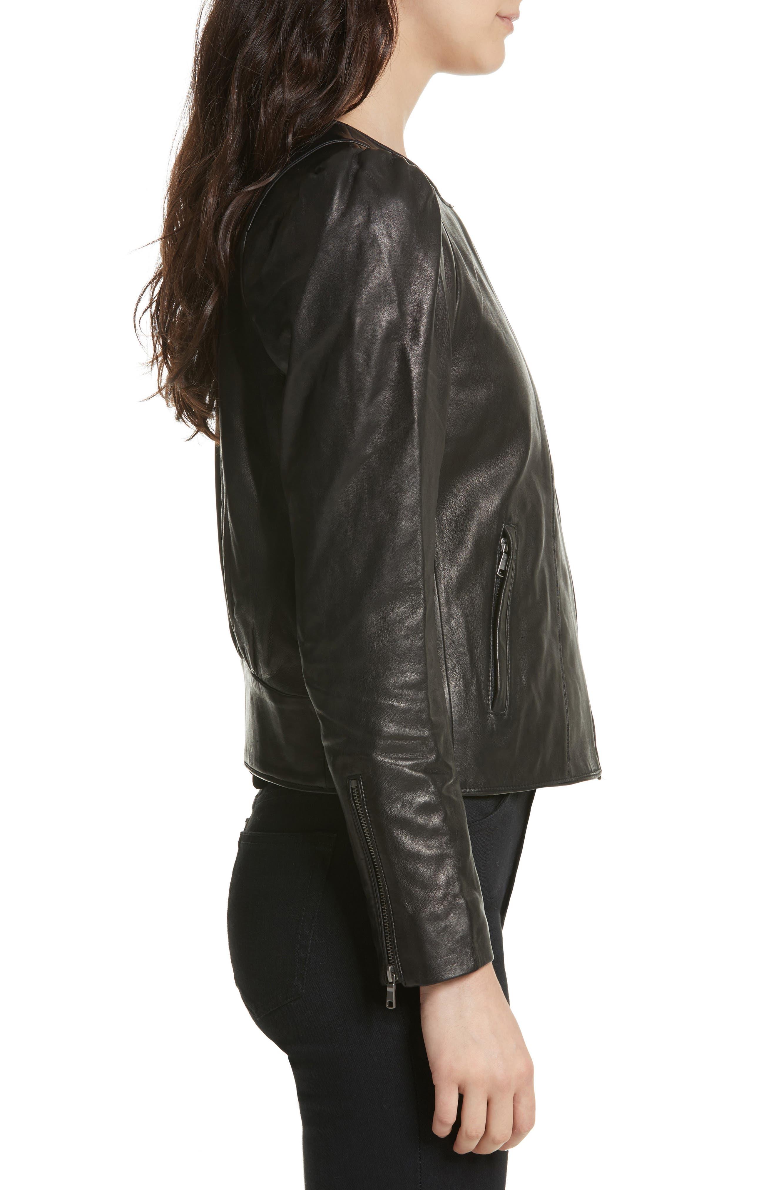 Alternate Image 3  - Derica Leather Jacket