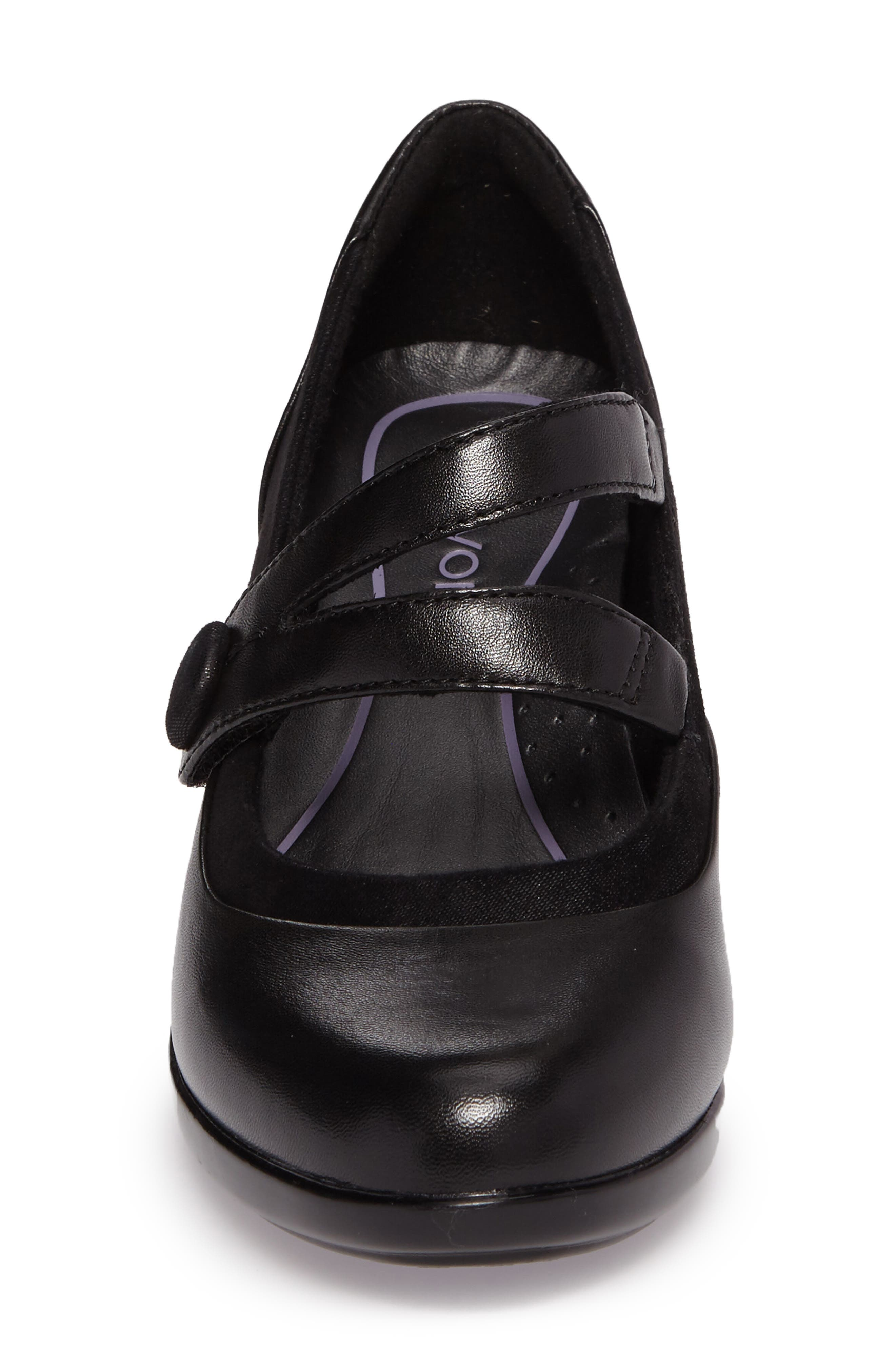 Lexee Mary Jane Pump,                             Alternate thumbnail 4, color,                             Black Leather