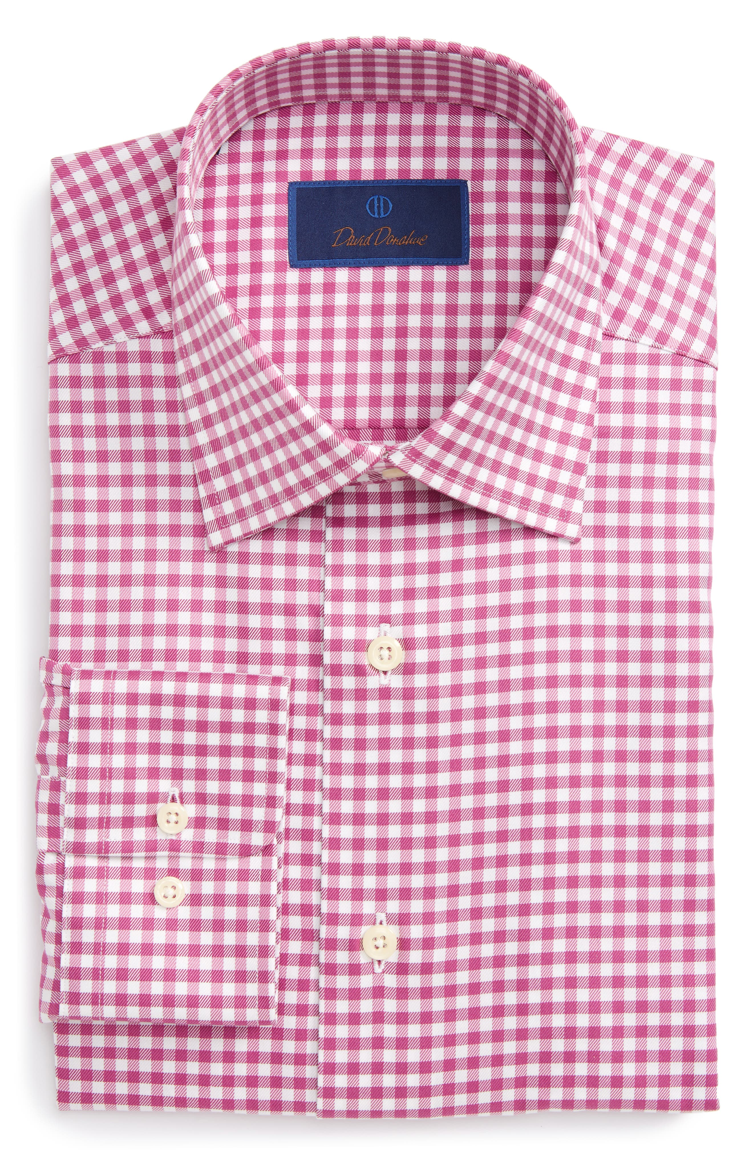 Main Image - David Donahue Regular Fit Check Dress Shirt