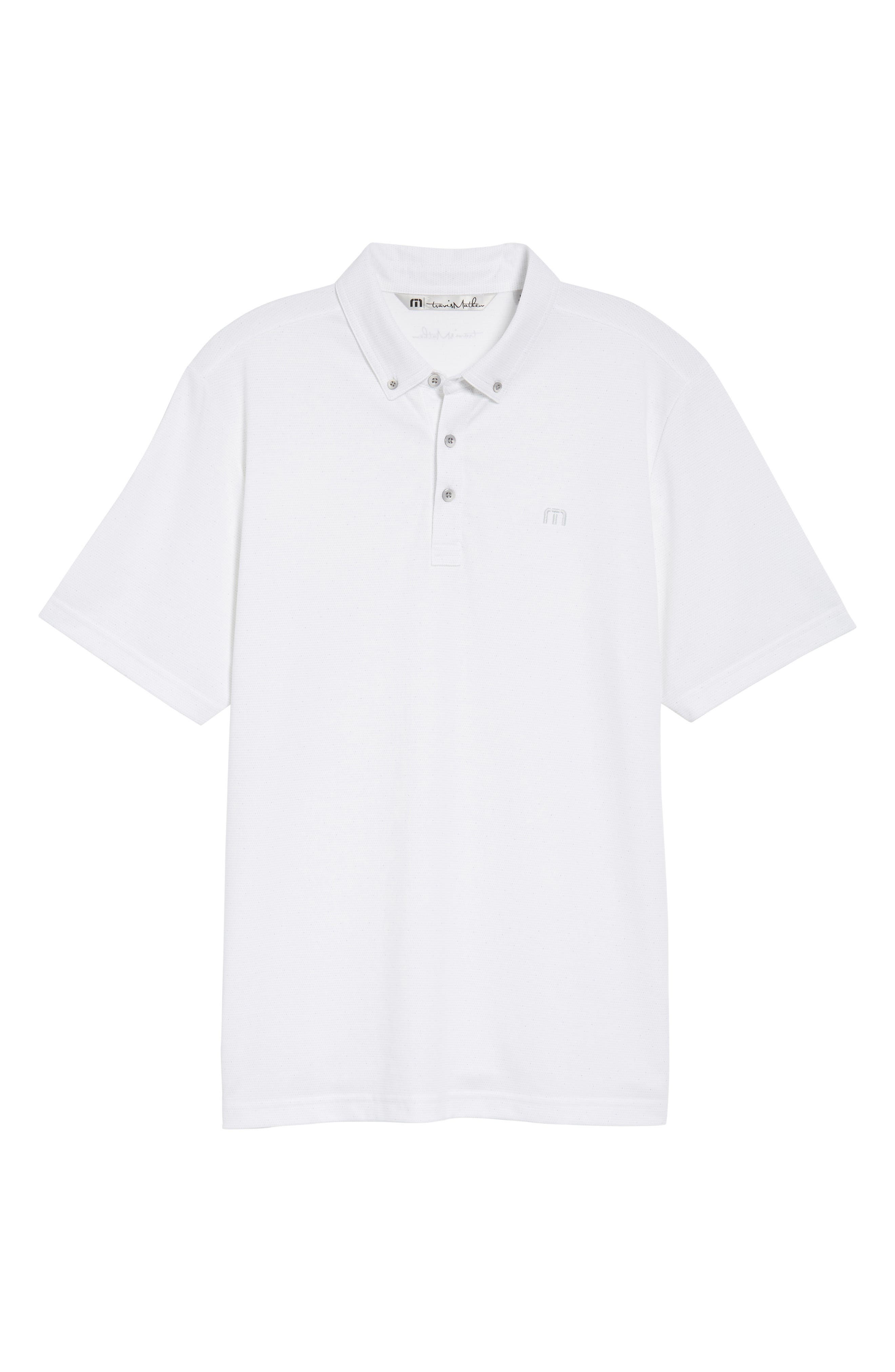 Stephen Dot Piqué Polo,                             Alternate thumbnail 6, color,                             White