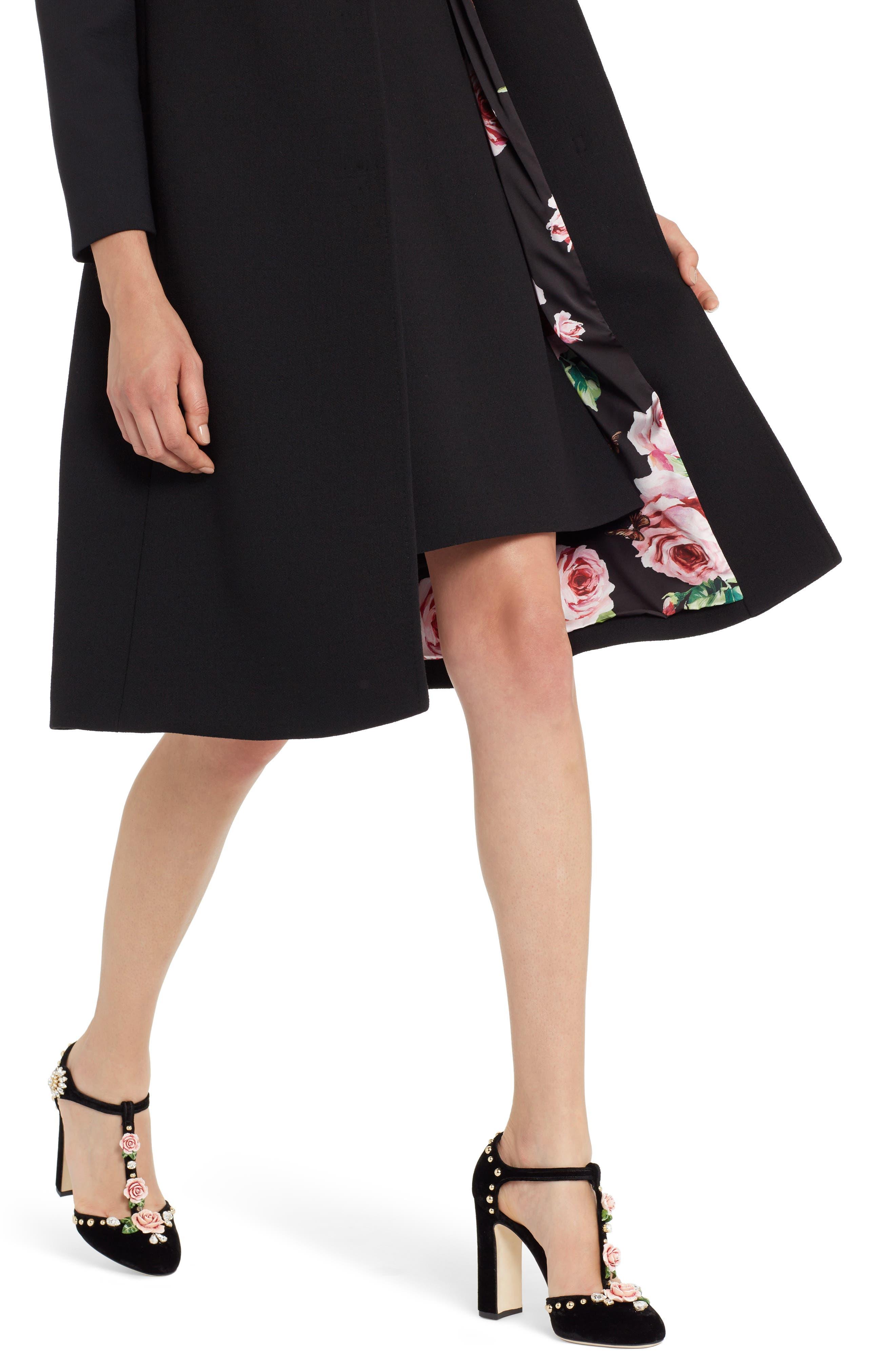Alternate Image 4  - Dolce&Gabbana Stretch Wool Crepe Coat