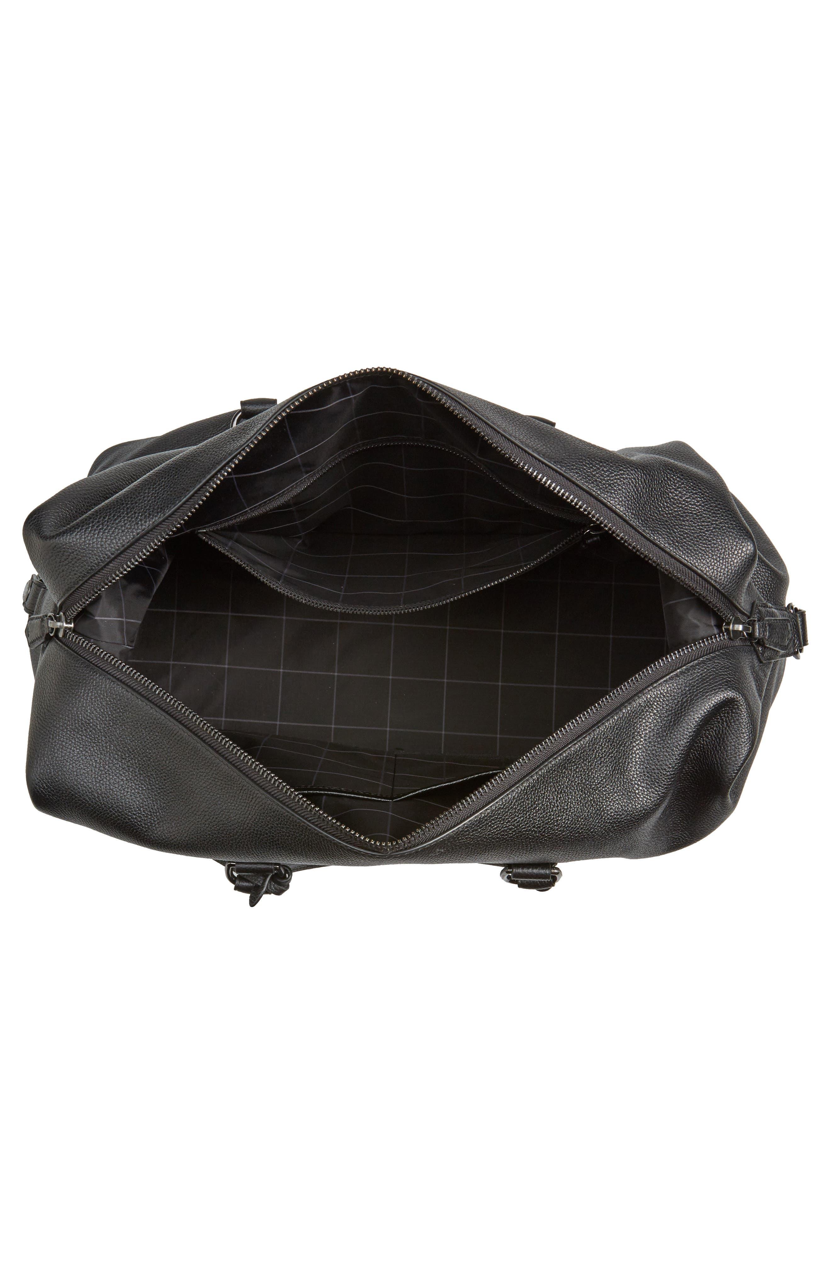 Alternate Image 3  - Polo Ralph Lauren Pebbled Leather Duffel Bag