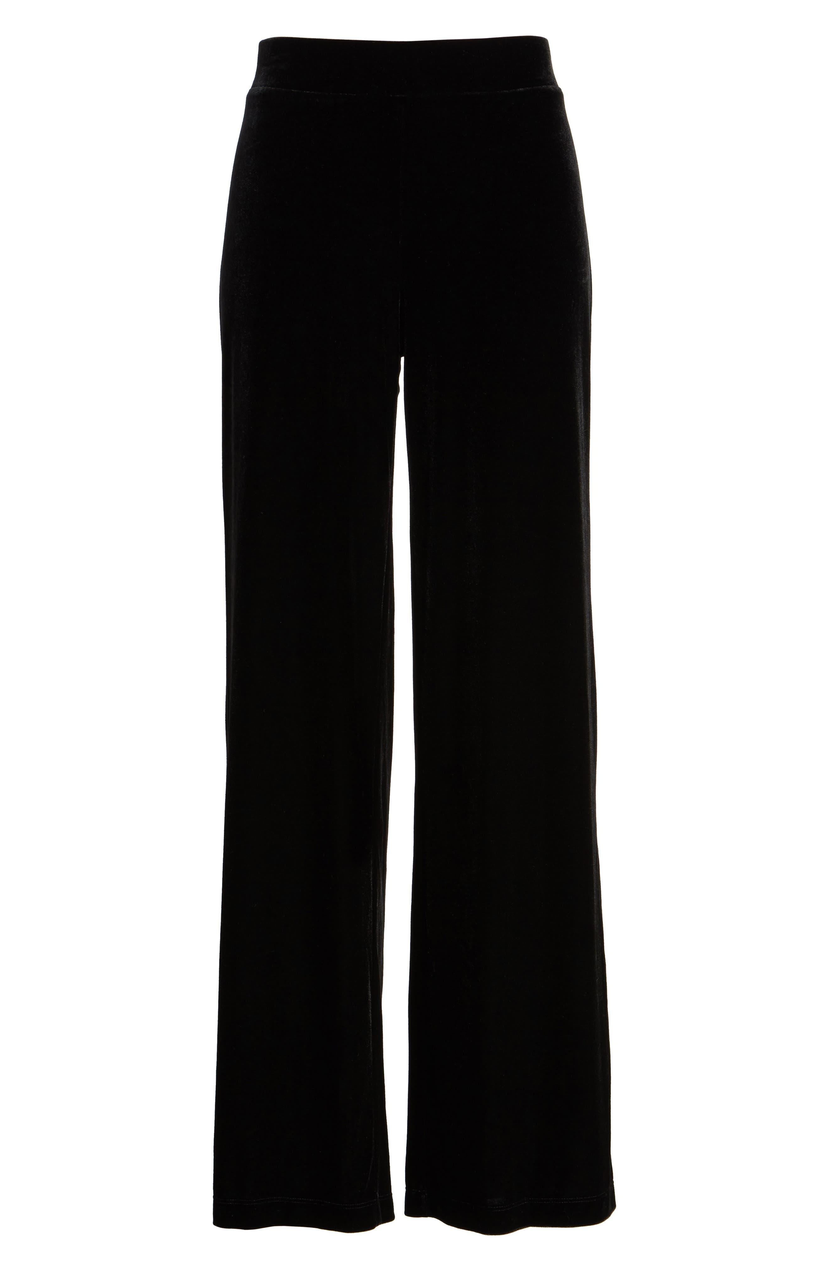 Velvet Pants,                             Alternate thumbnail 6, color,                             Rich Black