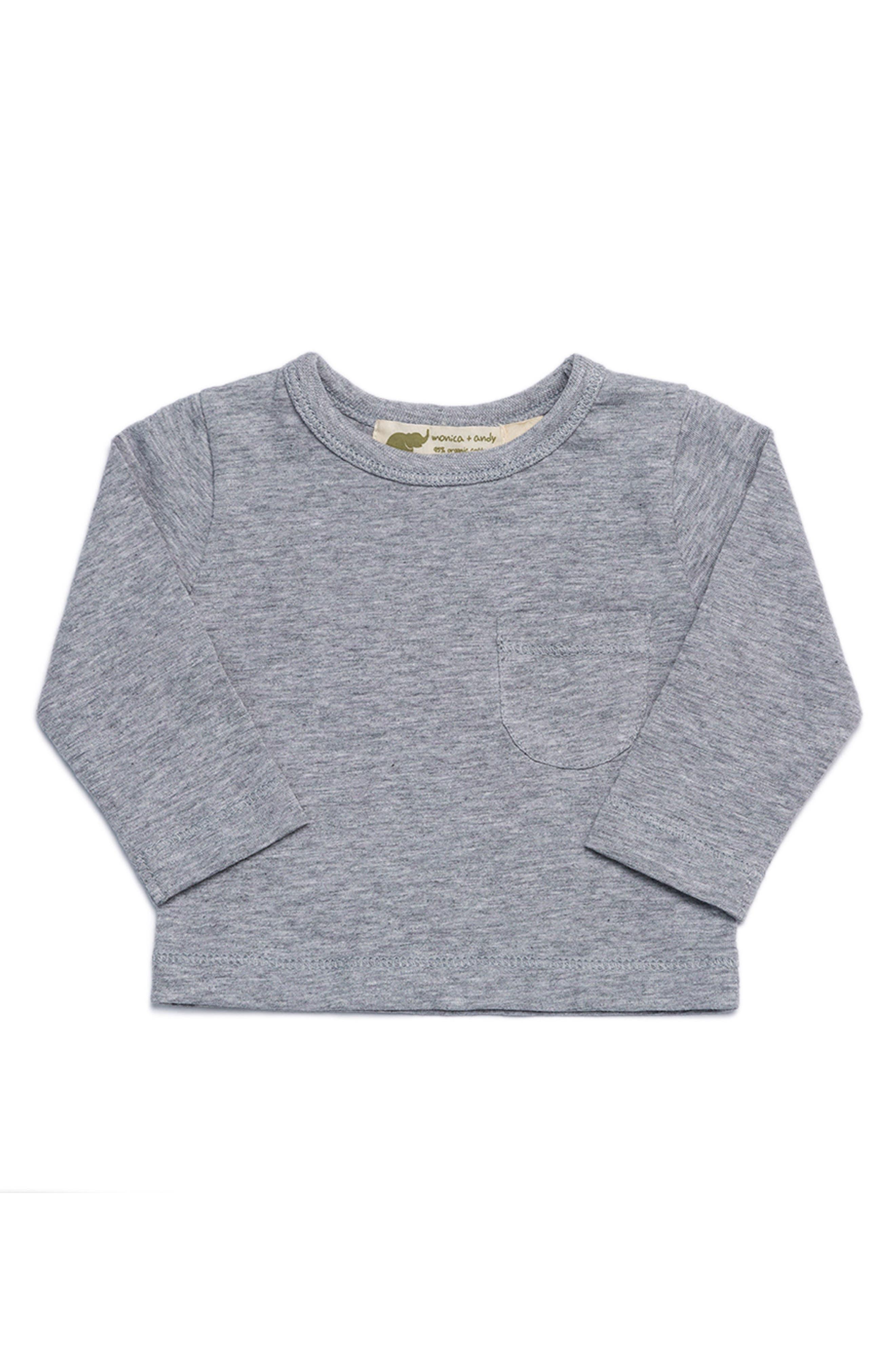 Organic Cotton Pocket T-Shirt,                         Main,                         color, Heather Grey