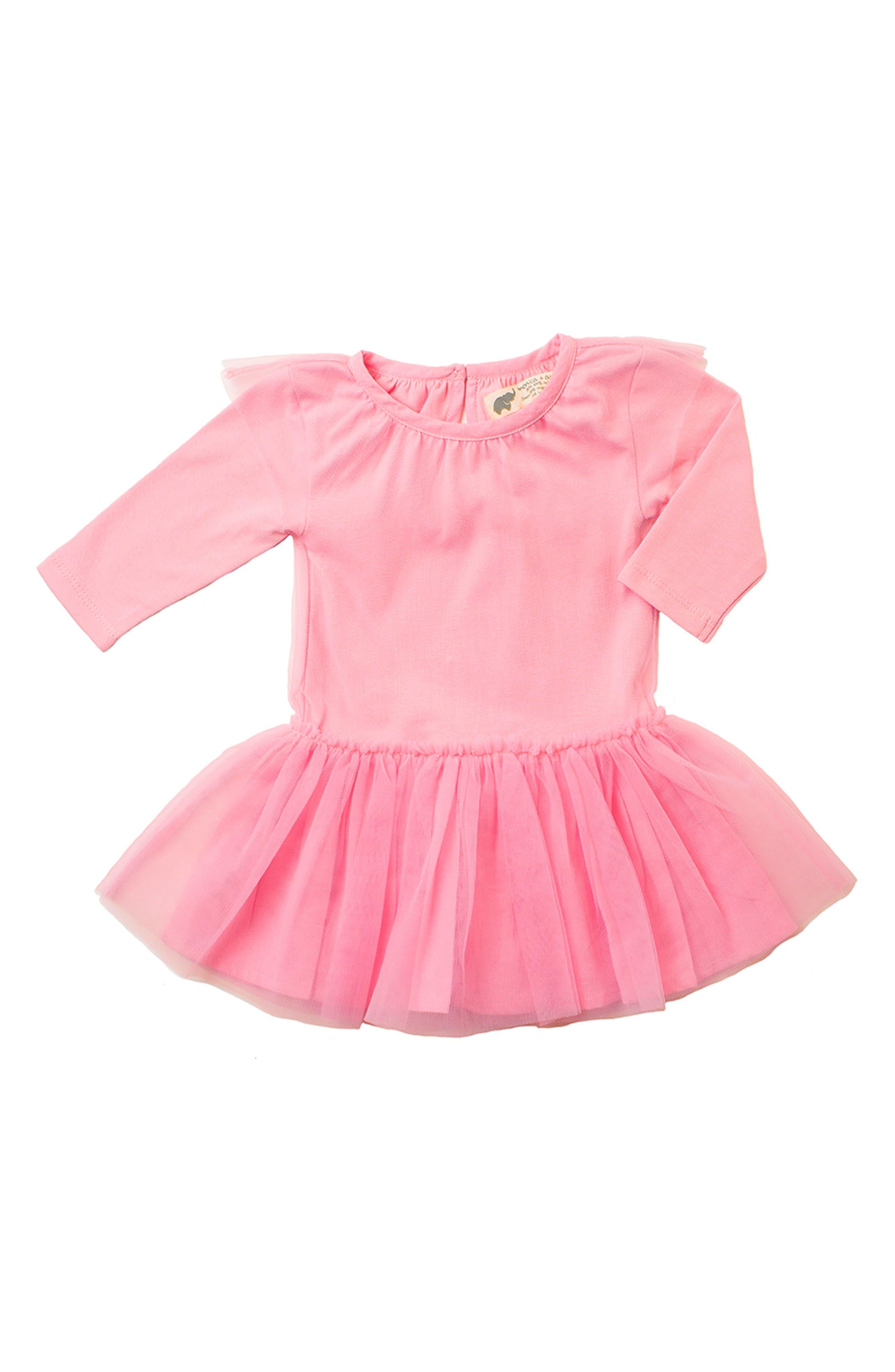 Little Belle Tulle Dress,                             Main thumbnail 1, color,                             Hot Pink