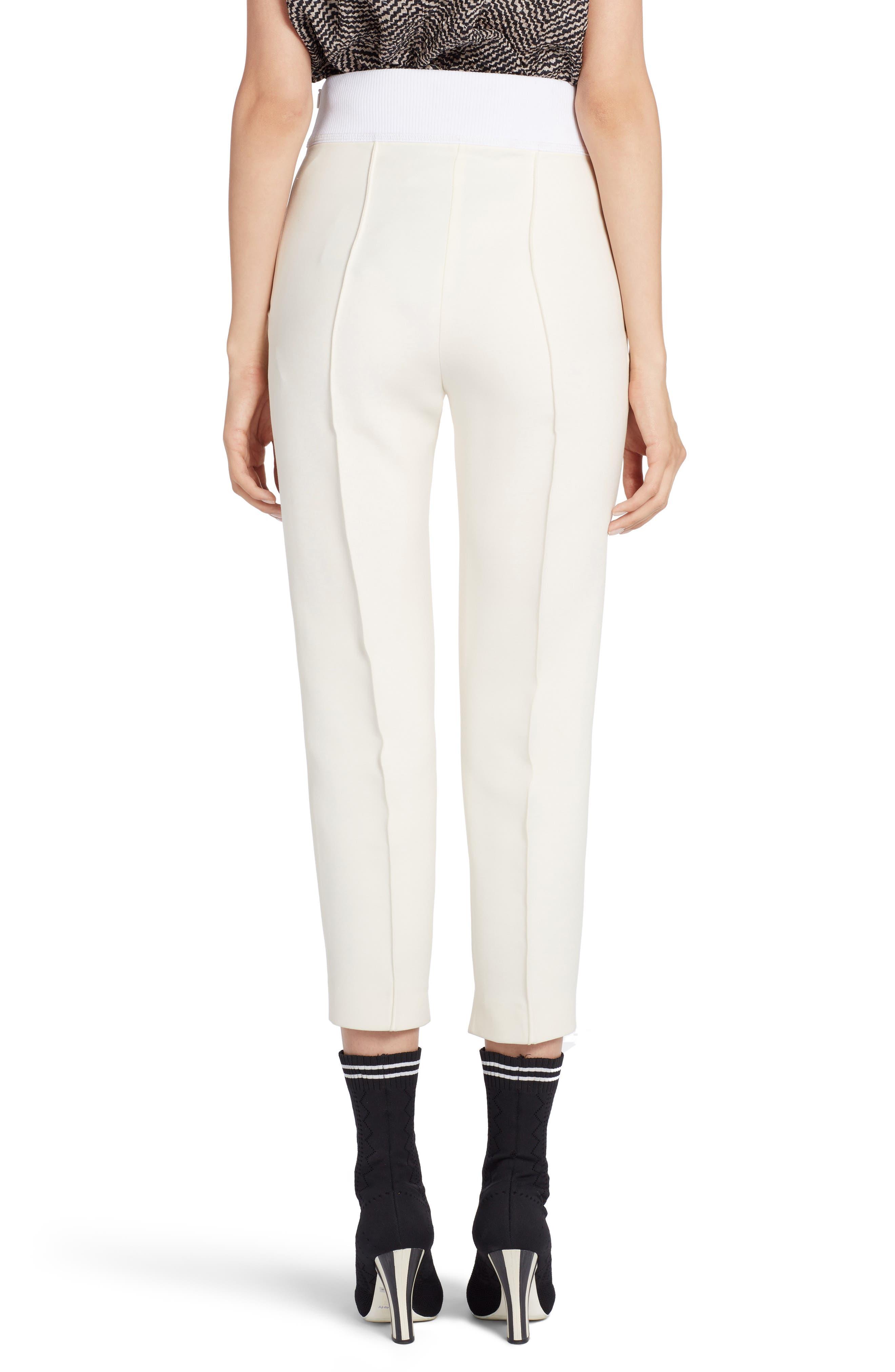 Alternate Image 2  - Fendi Wool & Silk Gazar Crop Pants