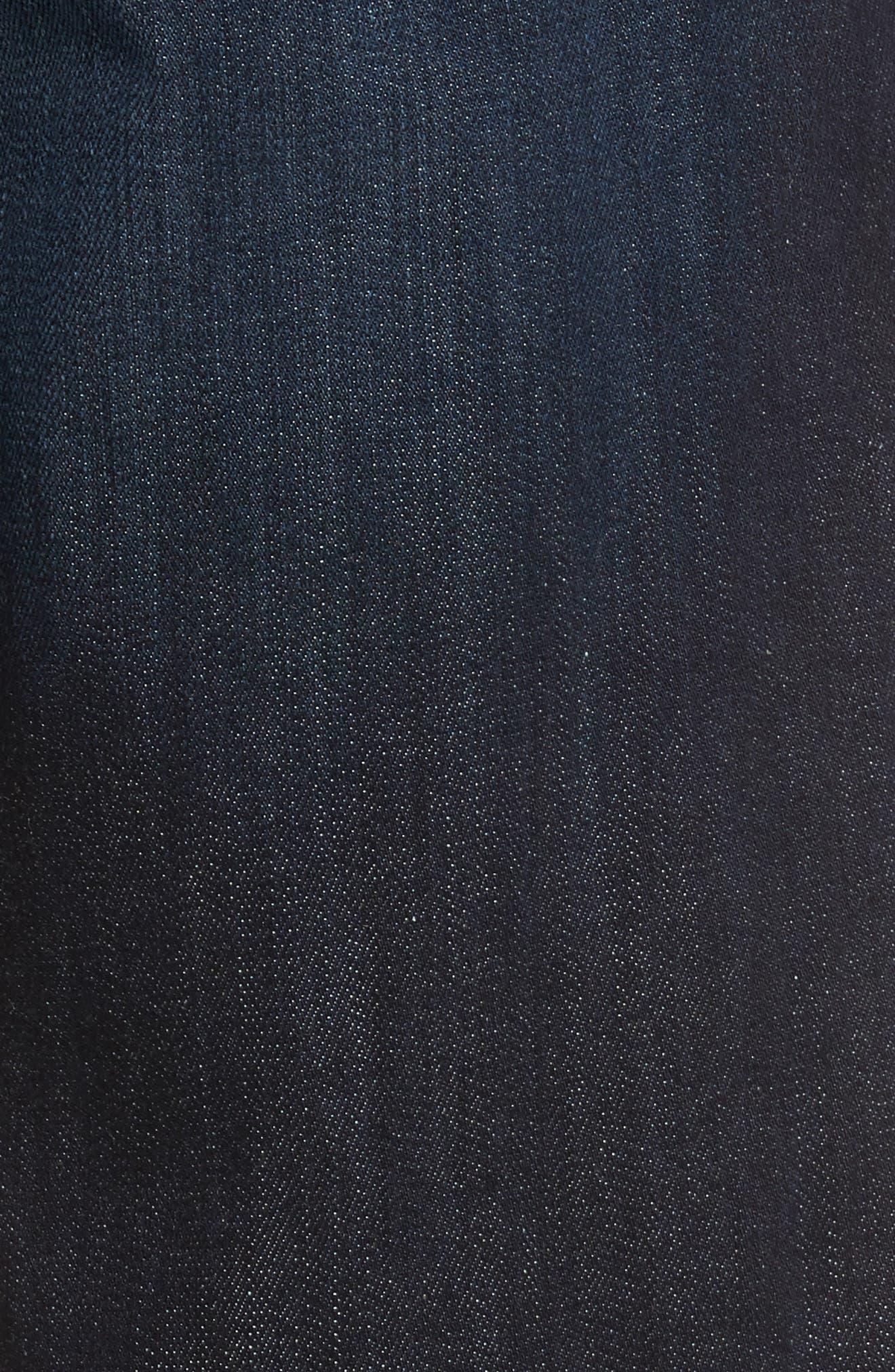 Alternate Image 5  - Fidelity Denim Jimmy Slim Straight Fit Jeans (Brooklyn Blue)