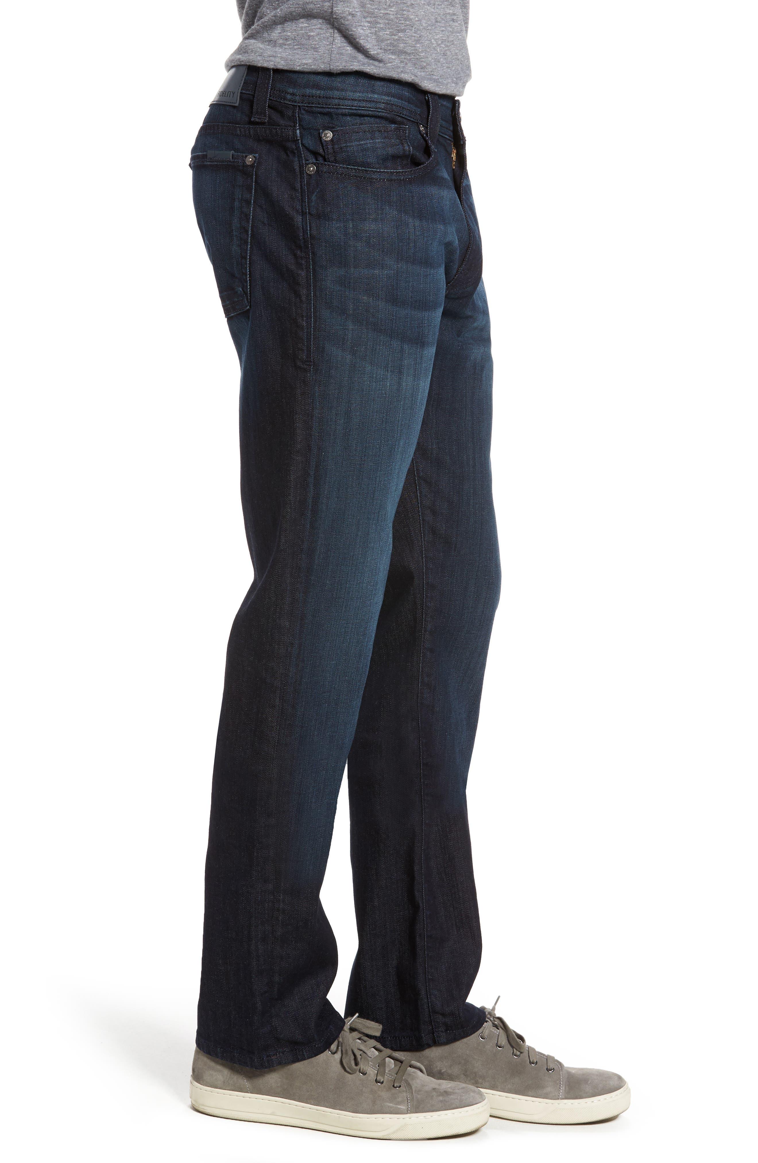 Alternate Image 3  - Fidelity Denim Jimmy Slim Straight Fit Jeans (Brooklyn Blue)