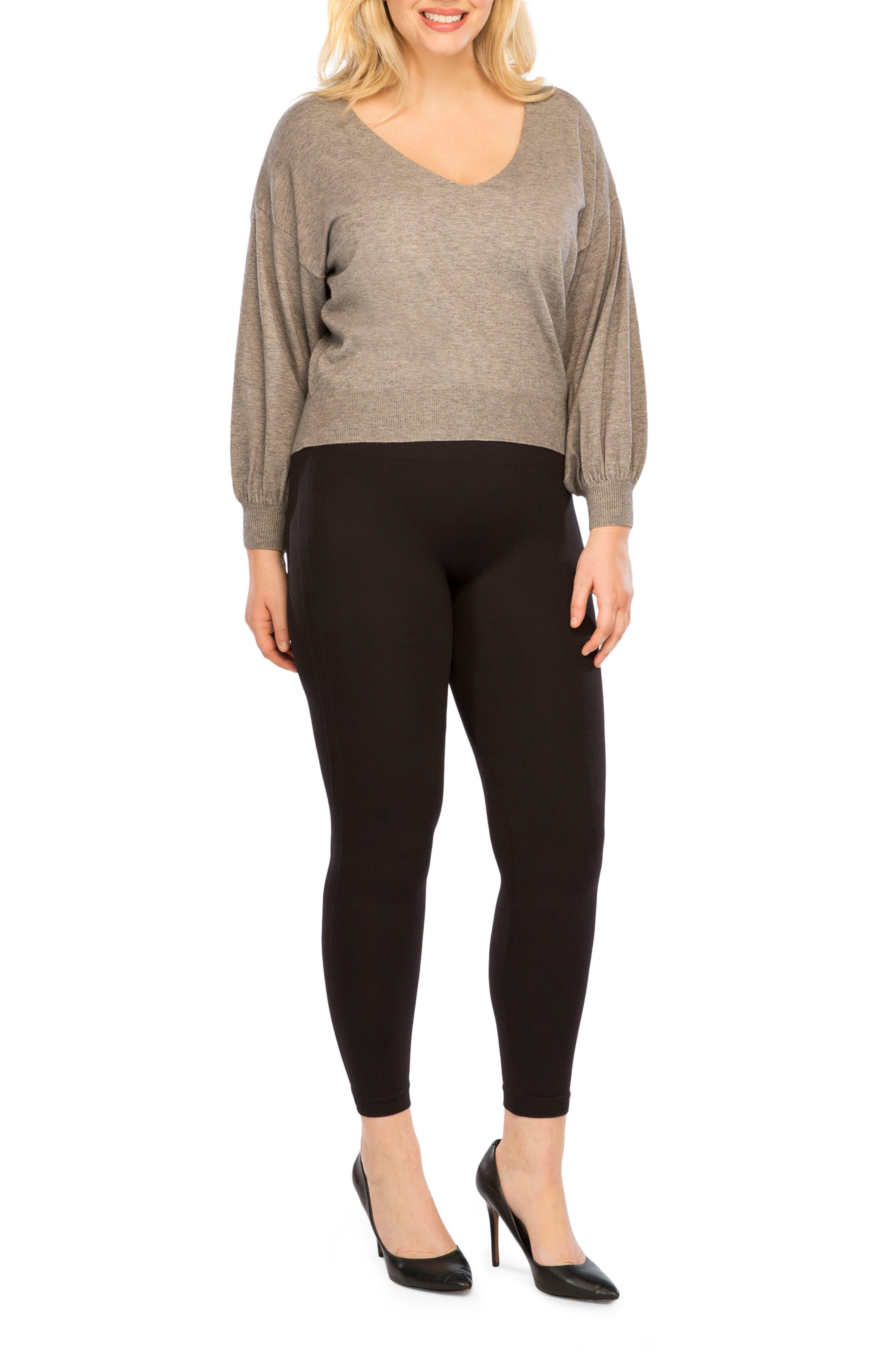 Alternate Image 4  - SPANX® Look At Me Now Seamless Leggings (Plus Size)
