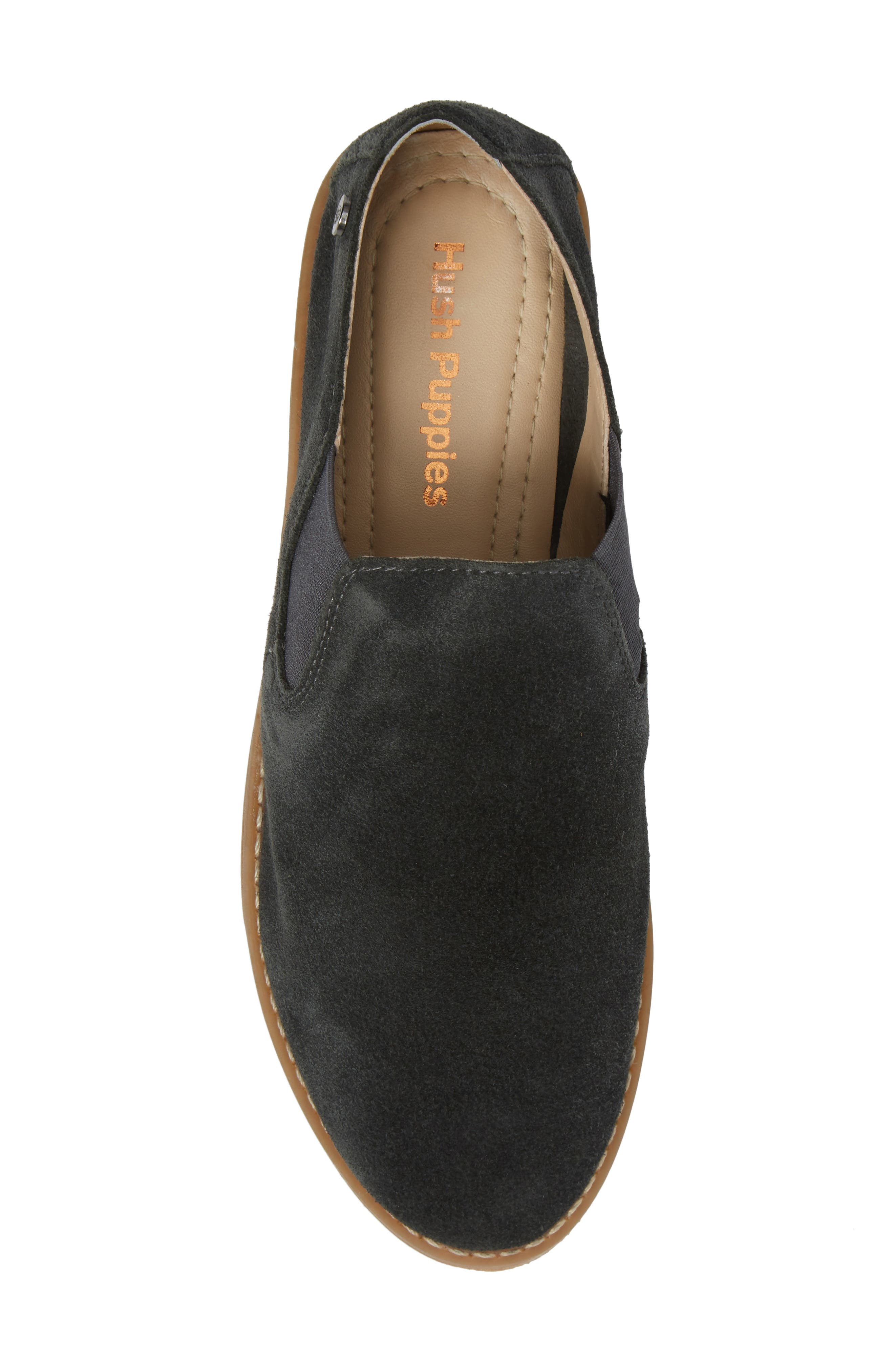 Analise Clever Flat,                             Alternate thumbnail 5, color,                             Granite Gray Suede