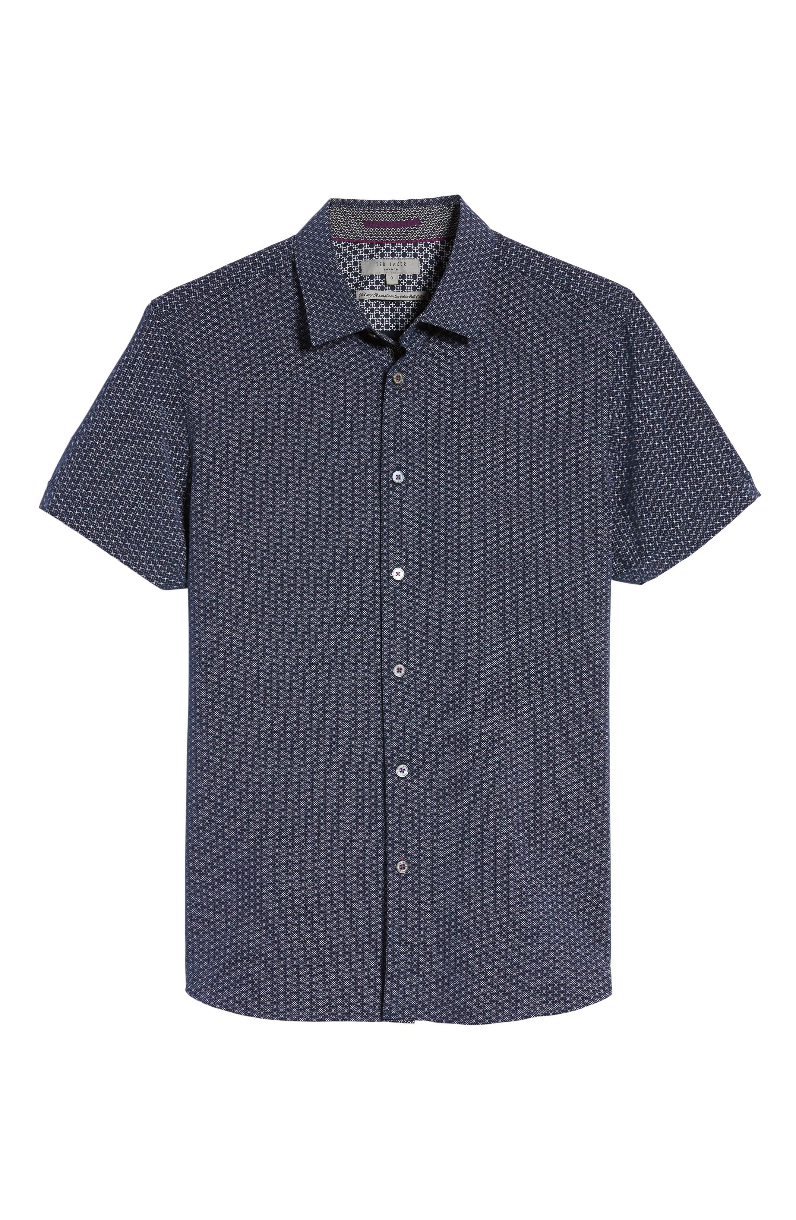 Alternate Image 6  - Ted Baker London Geo Polynosic Slim Fit Woven Shirt
