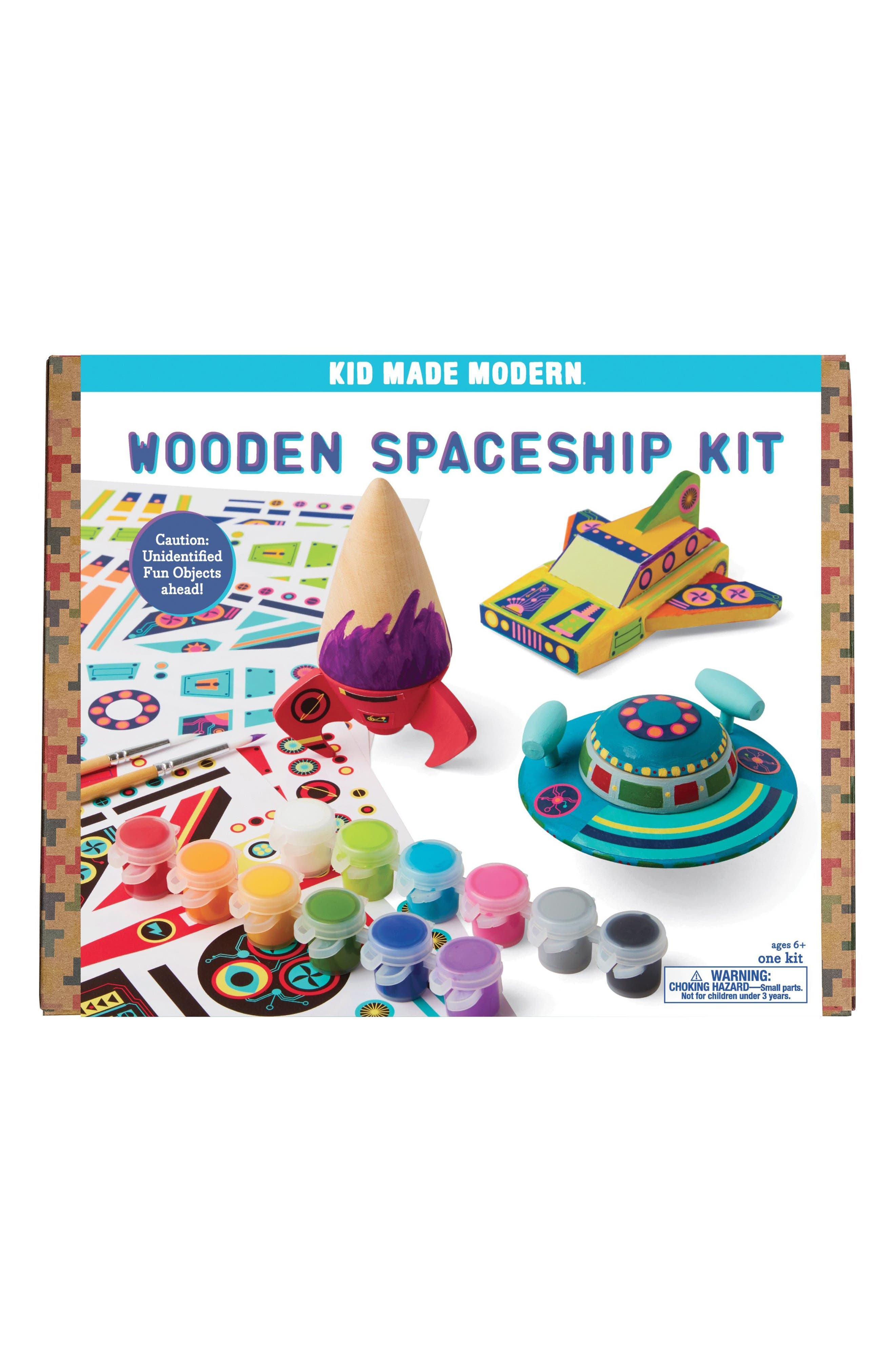 Wooden Spaceship Kit,                         Main,                         color, Multi