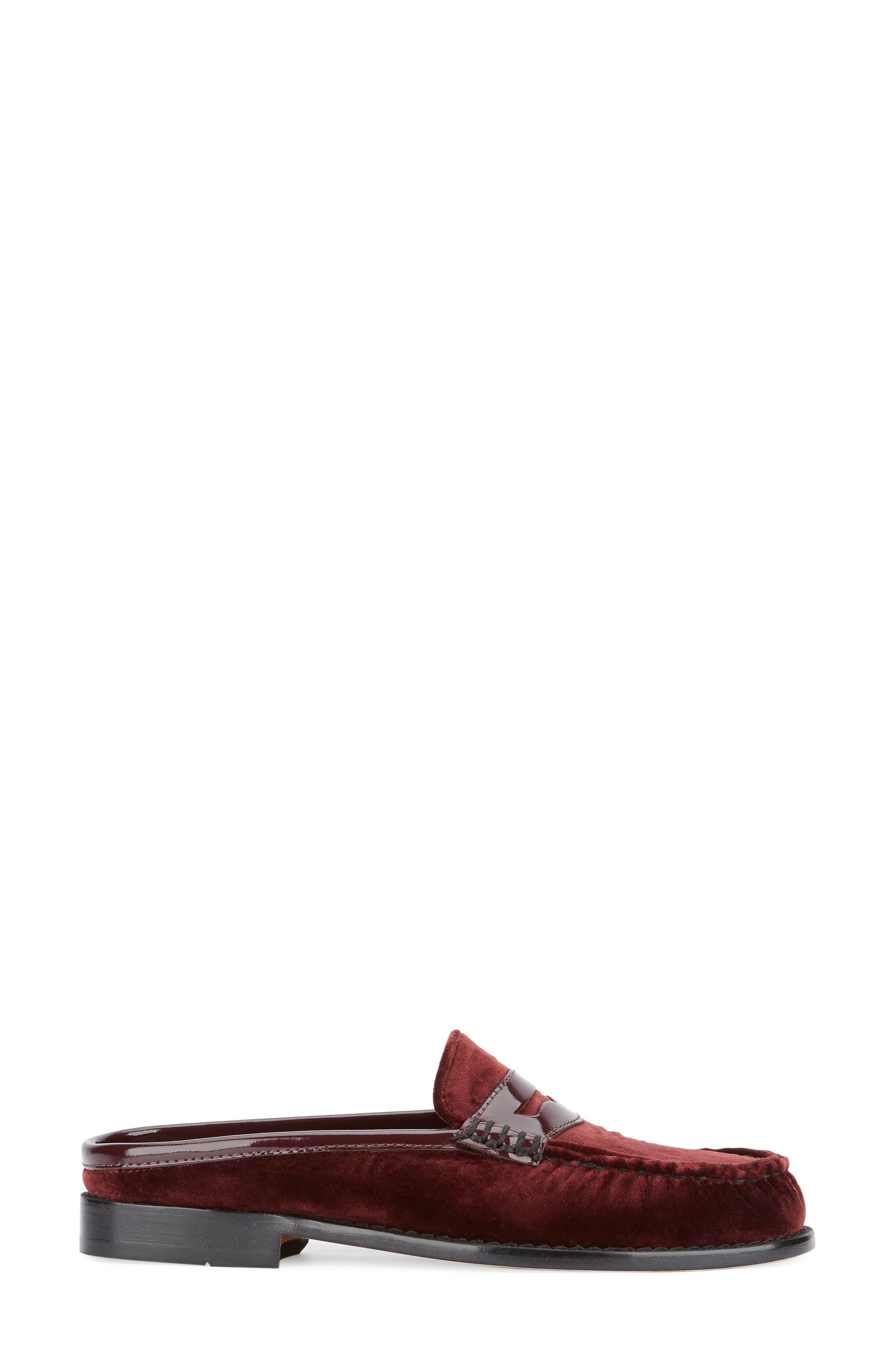 Wynn Loafer Mule,                             Alternate thumbnail 2, color,                             Wine Velvet