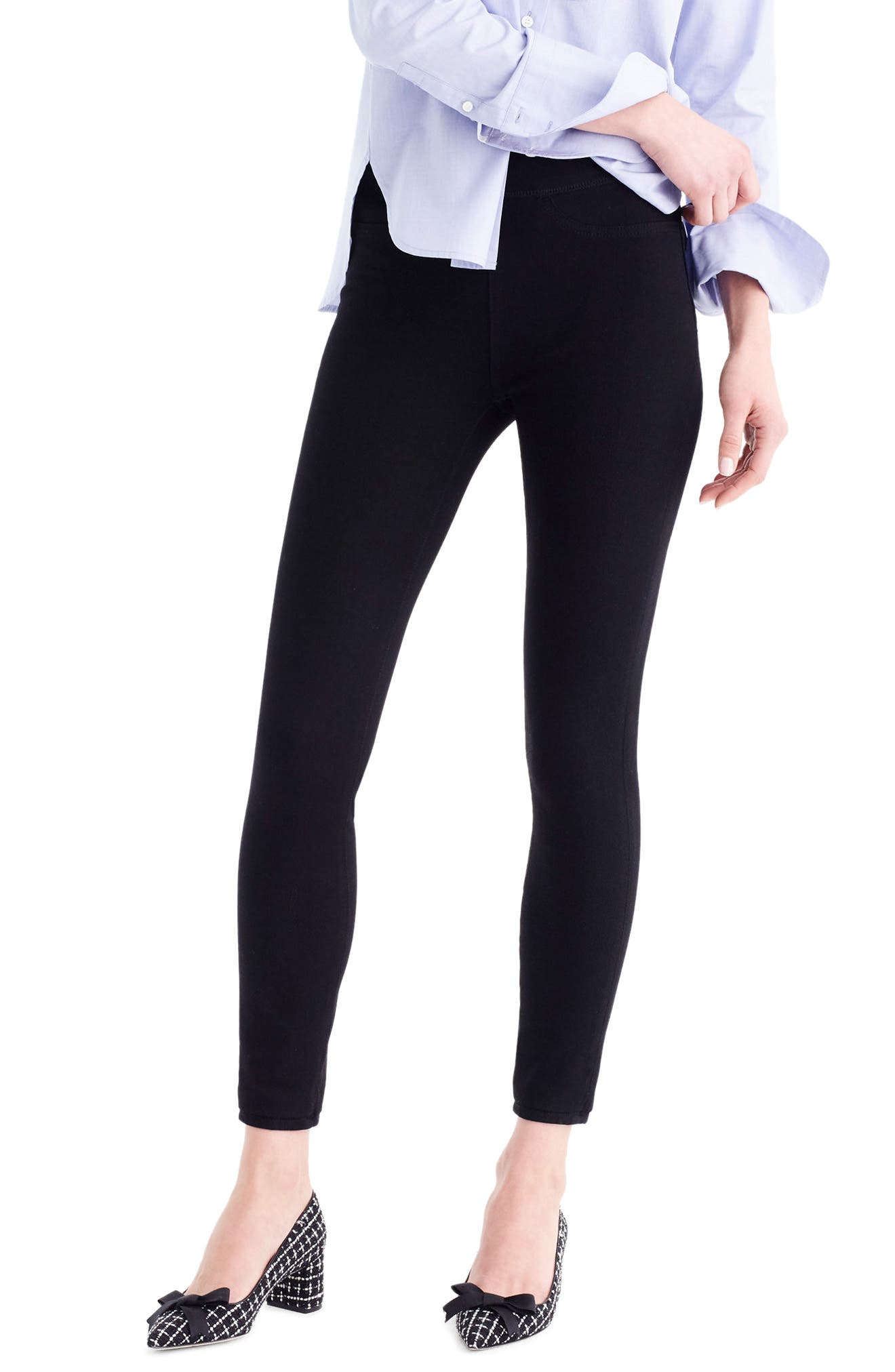 J.Crew Pull-On Toothpick Black Skinny Jeans