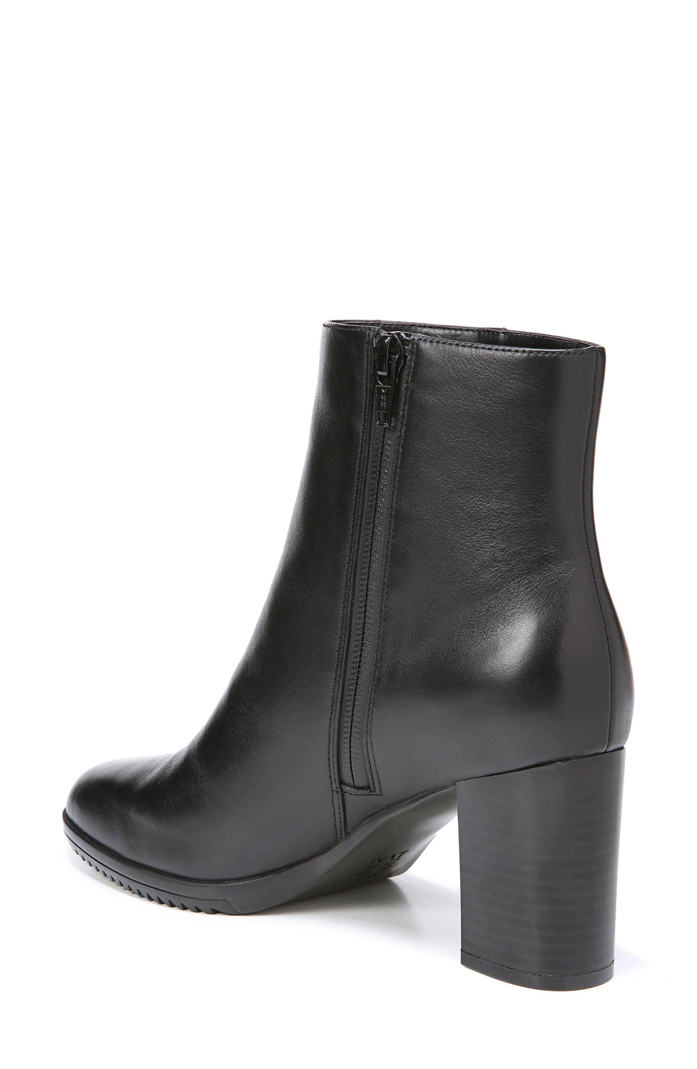 Sadie Waterproof Bootie,                             Alternate thumbnail 2, color,                             Black Leather