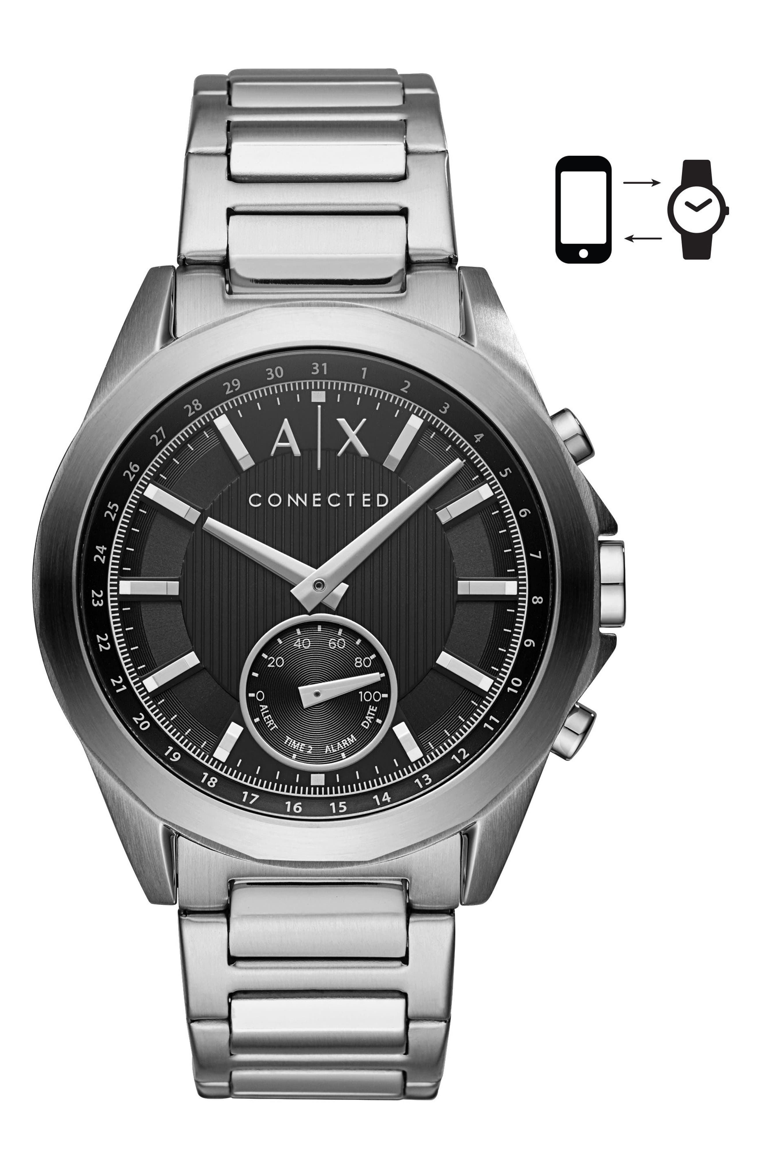 AX Armani Exchange Connected Hybrid Bracelet Smartwatch, 44mm