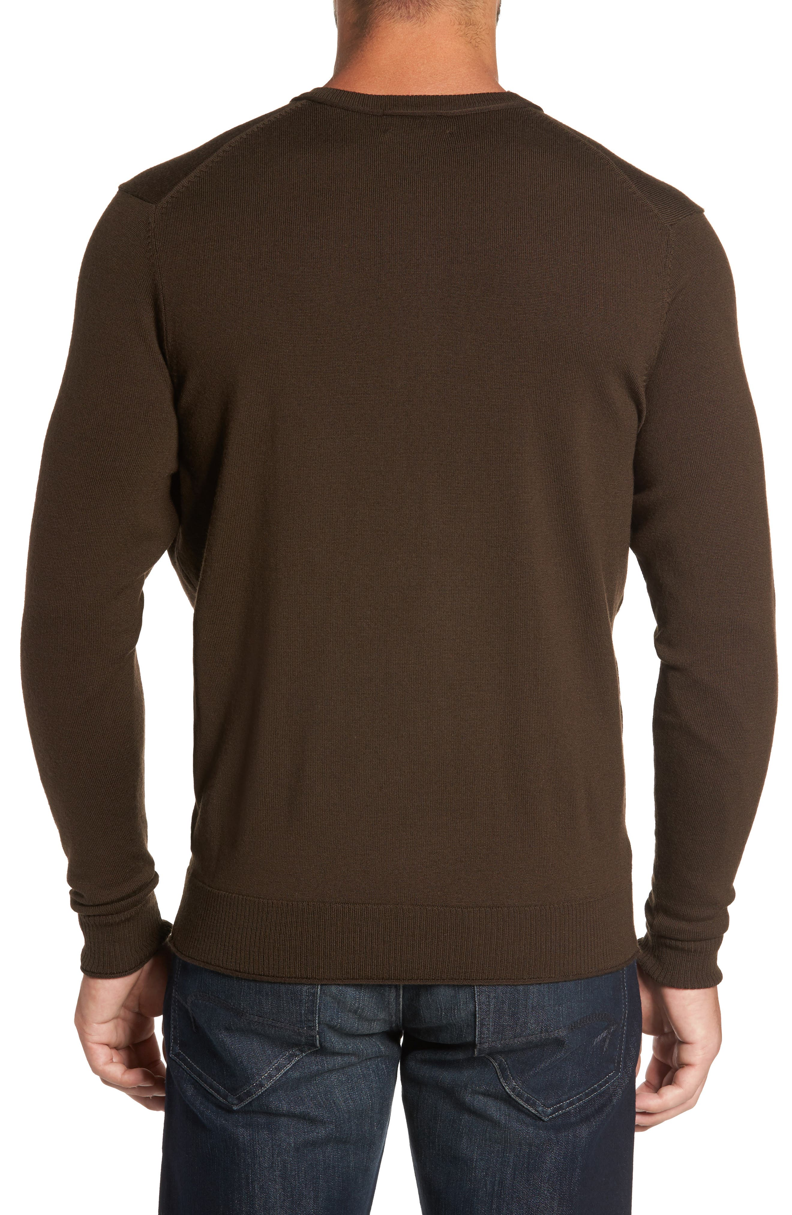 Alternate Image 2  - Thomas Dean Merino Blend Henley