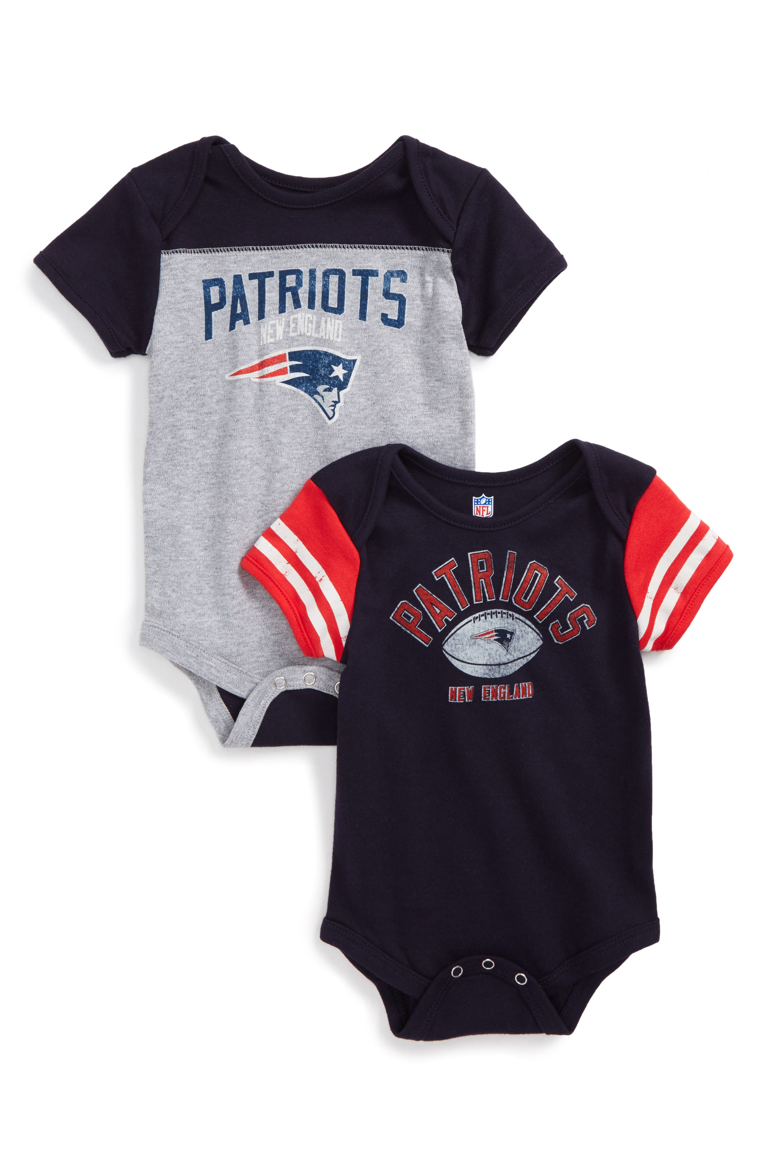 NFL Logo New England Patriots 2-Pack Bodysuits (Baby)
